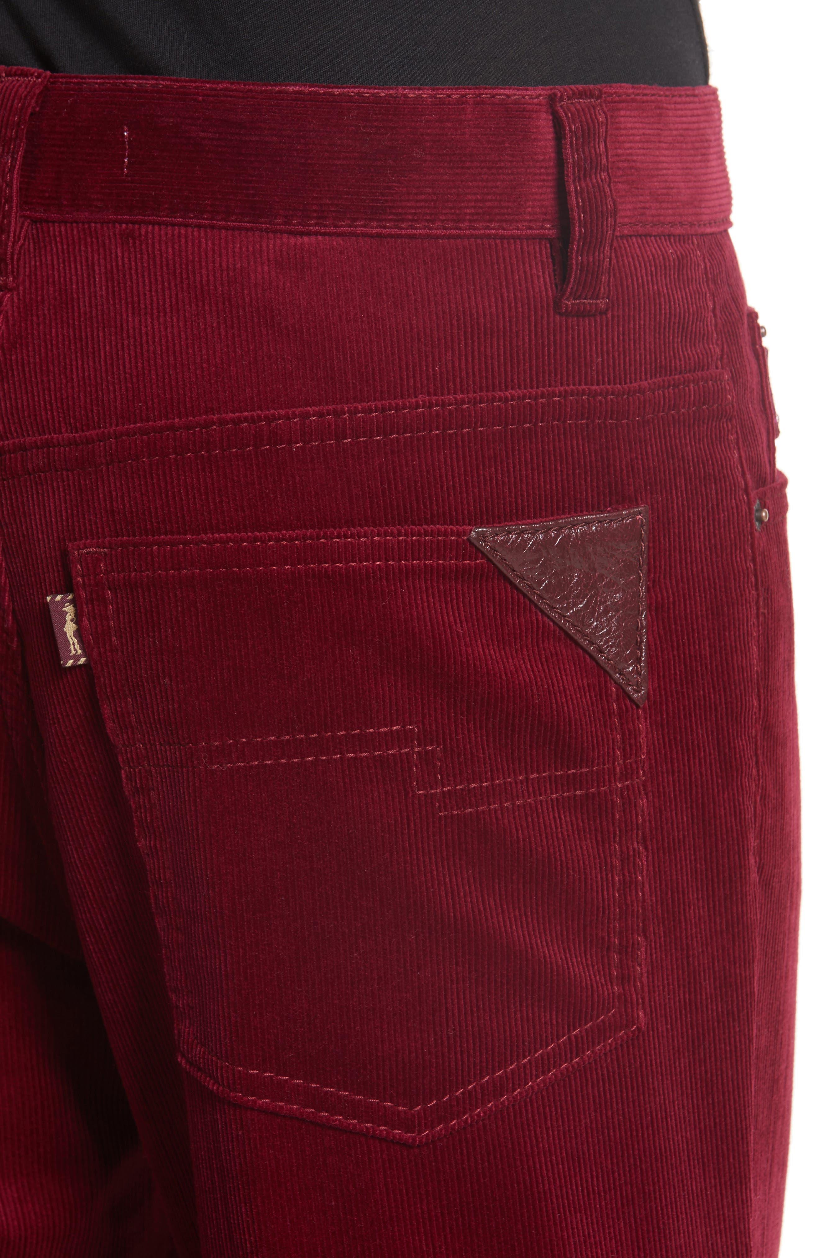 Crop Flare Corduroy Pants,                             Alternate thumbnail 4, color,                             930