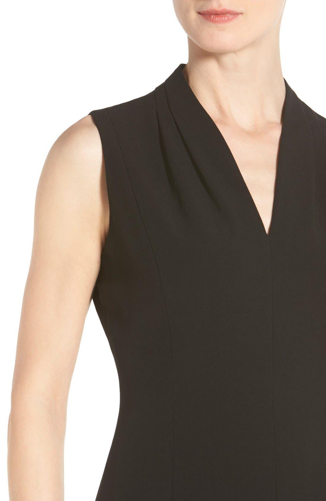 'Tonya' V-Neck Sheath Dress,                             Alternate thumbnail 7, color,