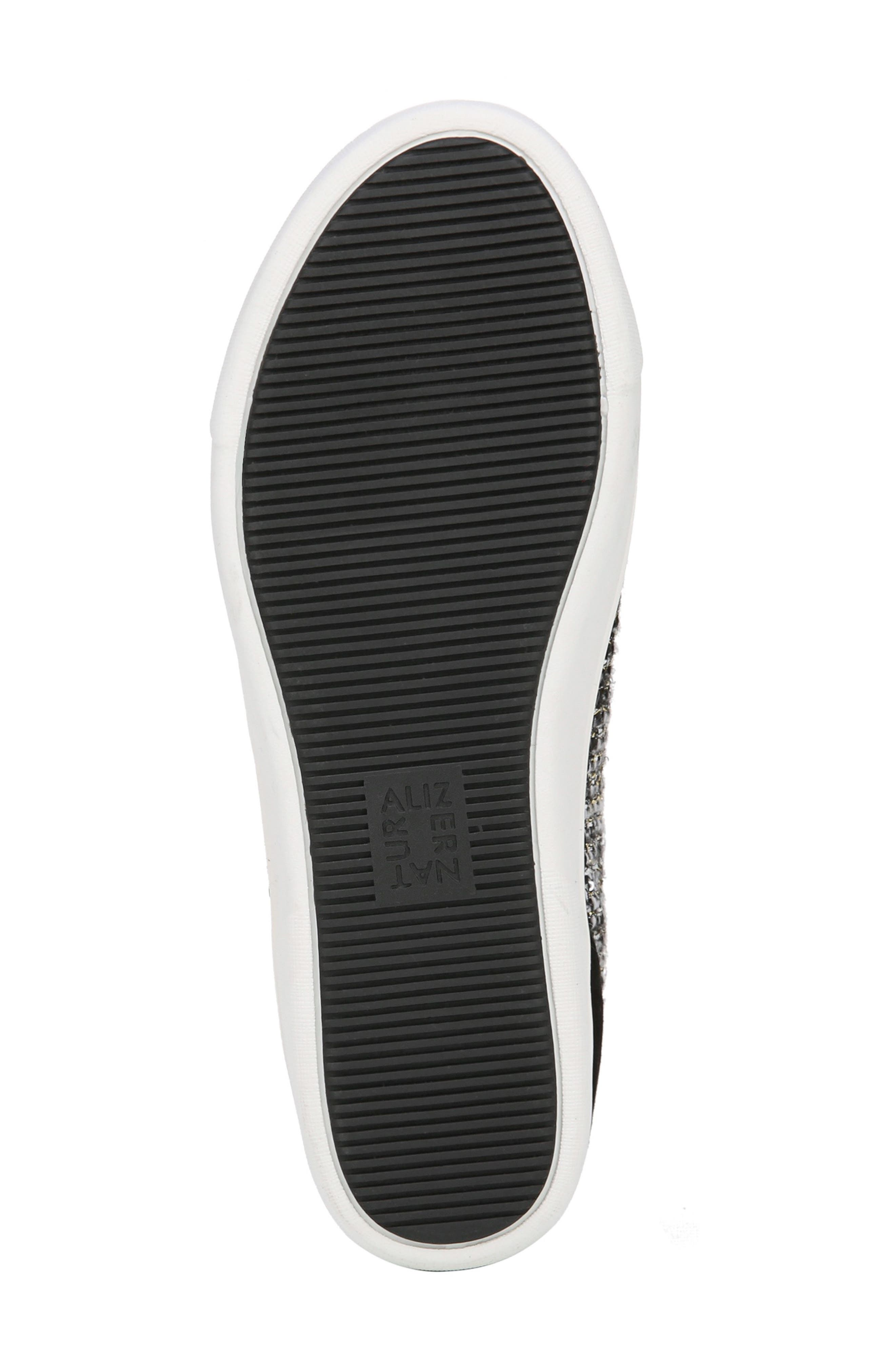 Morrison Sneaker,                             Alternate thumbnail 6, color,                             BLACK/ WHITE TWEED FABRIC