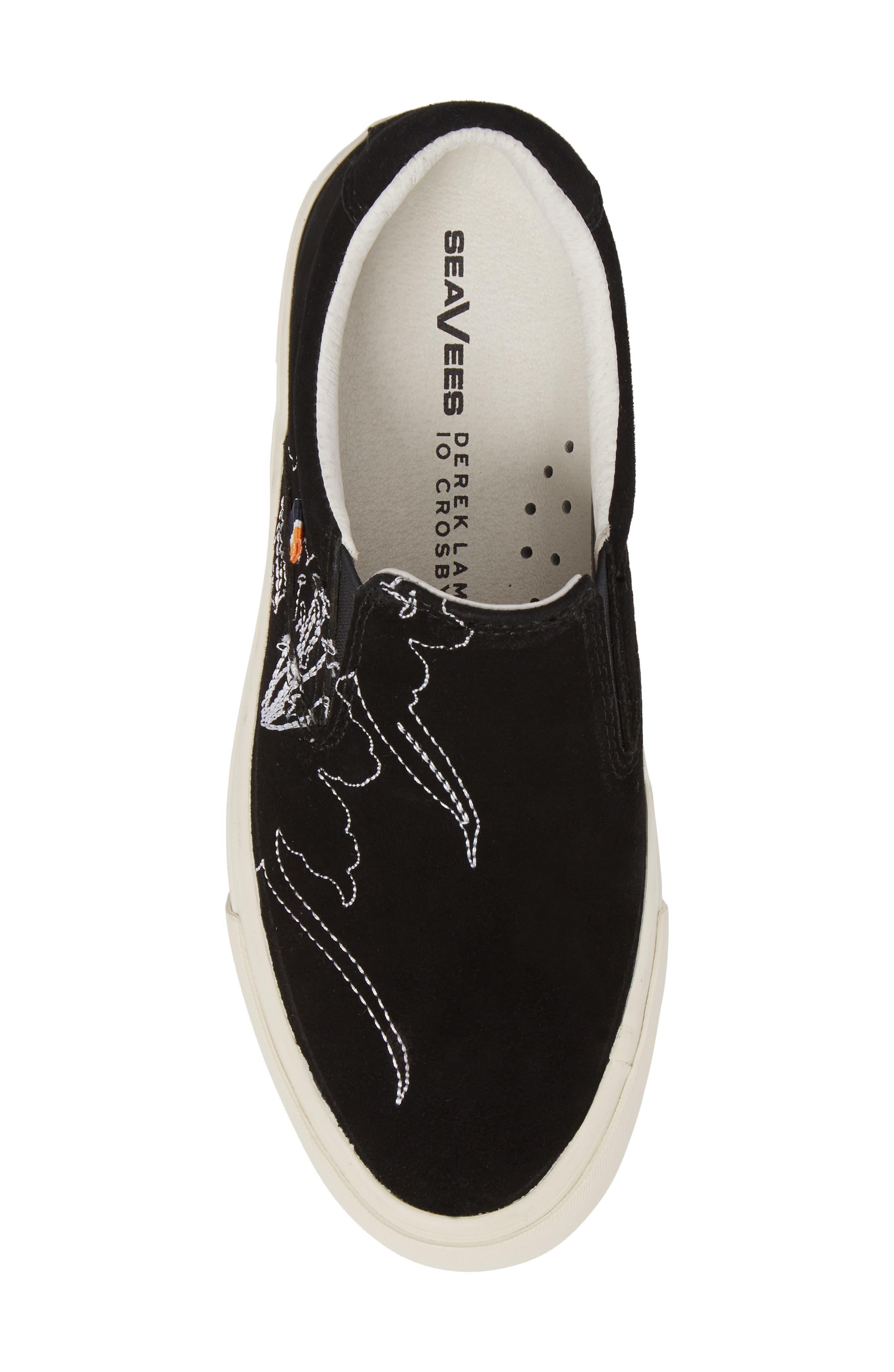 x Derek Lam 10 Crosby Hawthorne Embroidered Slip-On,                             Alternate thumbnail 5, color,                             001