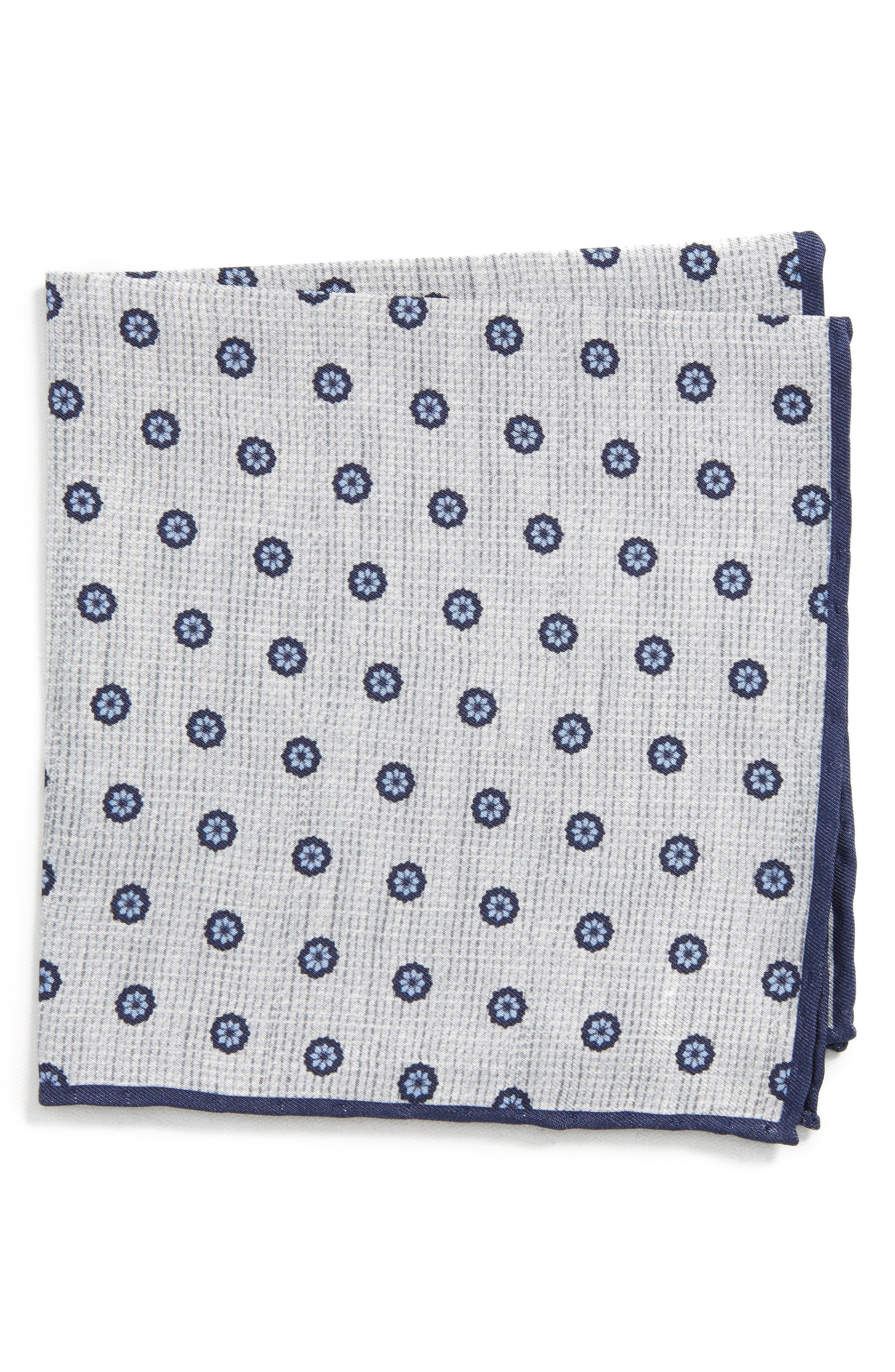 Floral Silk Pocket Square,                             Main thumbnail 1, color,                             020