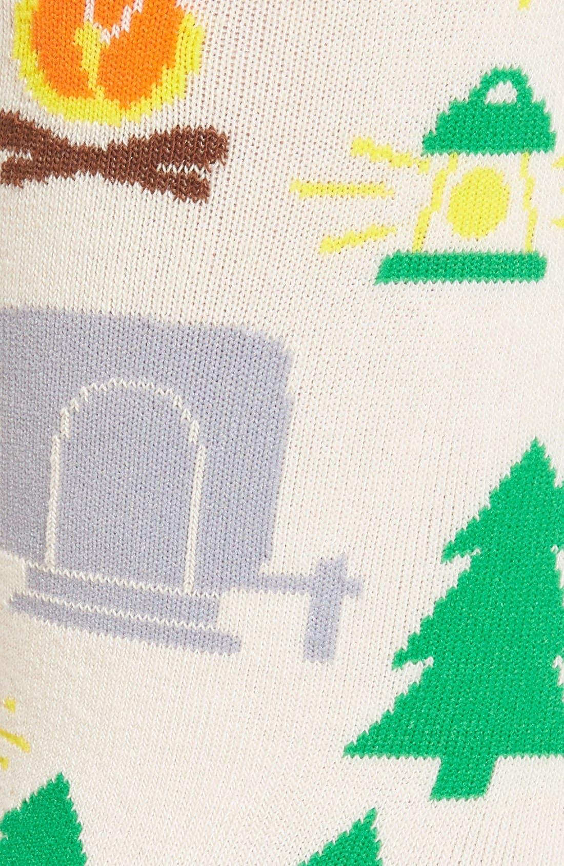 WOVEN PEAR,                             'Happy Camper' Crew Socks,                             Alternate thumbnail 2, color,                             650