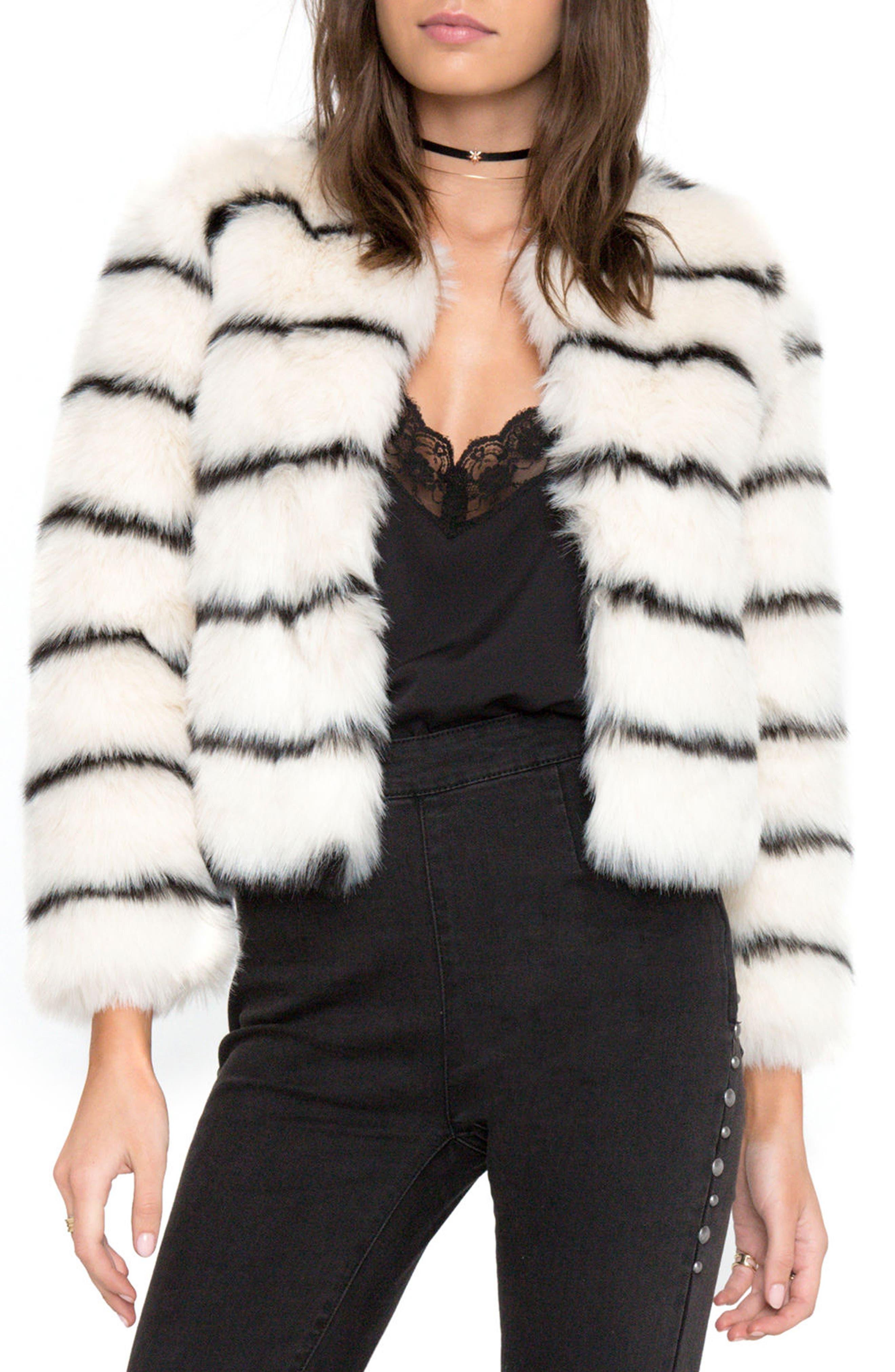 Tahlia Faux Fur Jacket,                             Alternate thumbnail 2, color,