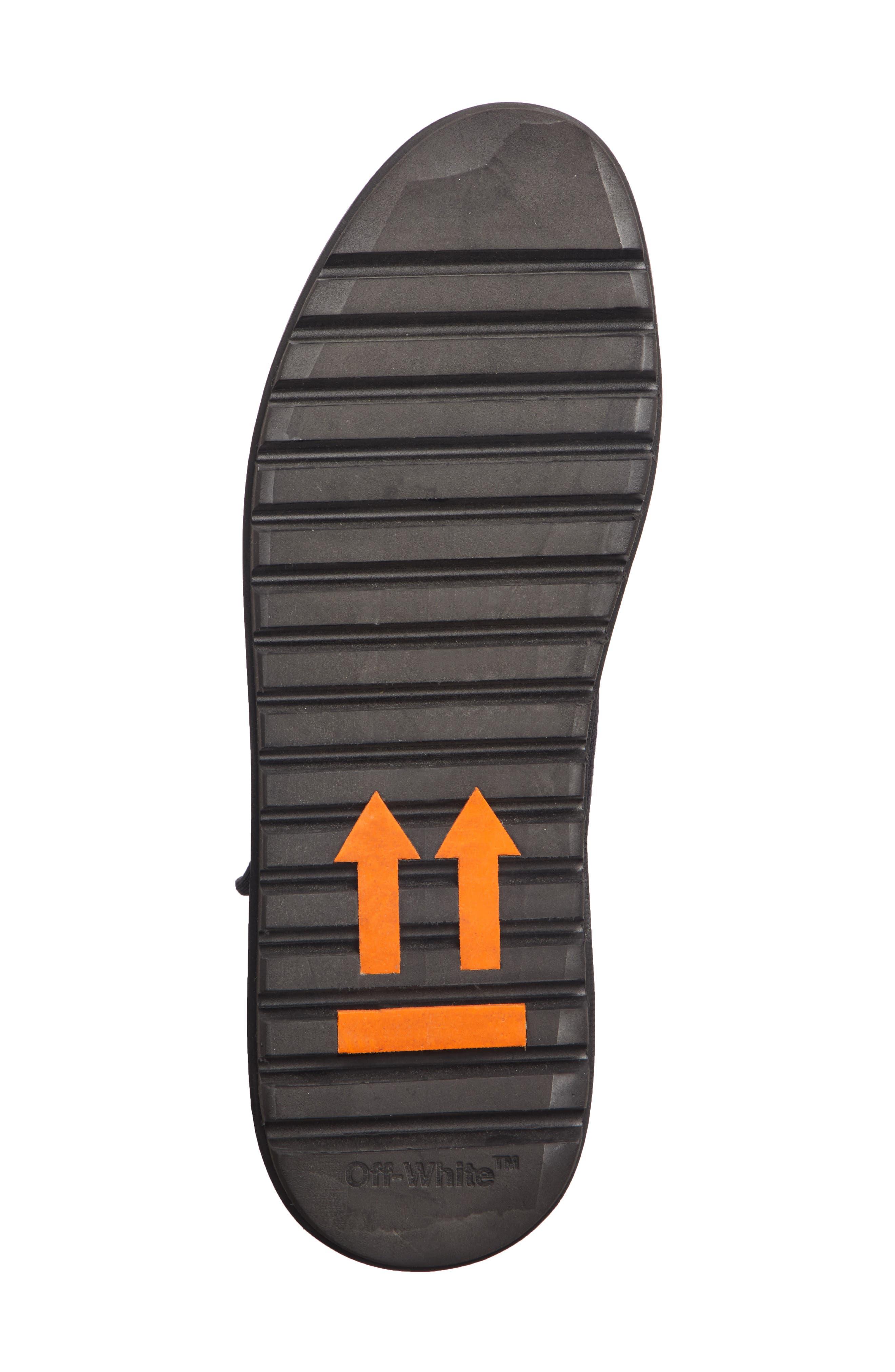 Moto Wrap Sneaker,                             Alternate thumbnail 6, color,                             BLACK WHITE