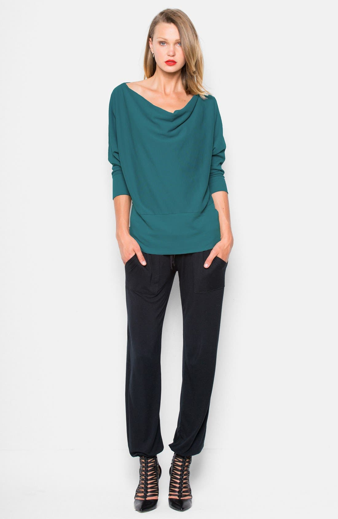 'Aidan' Drape Neck Thermal Top,                             Alternate thumbnail 11, color,