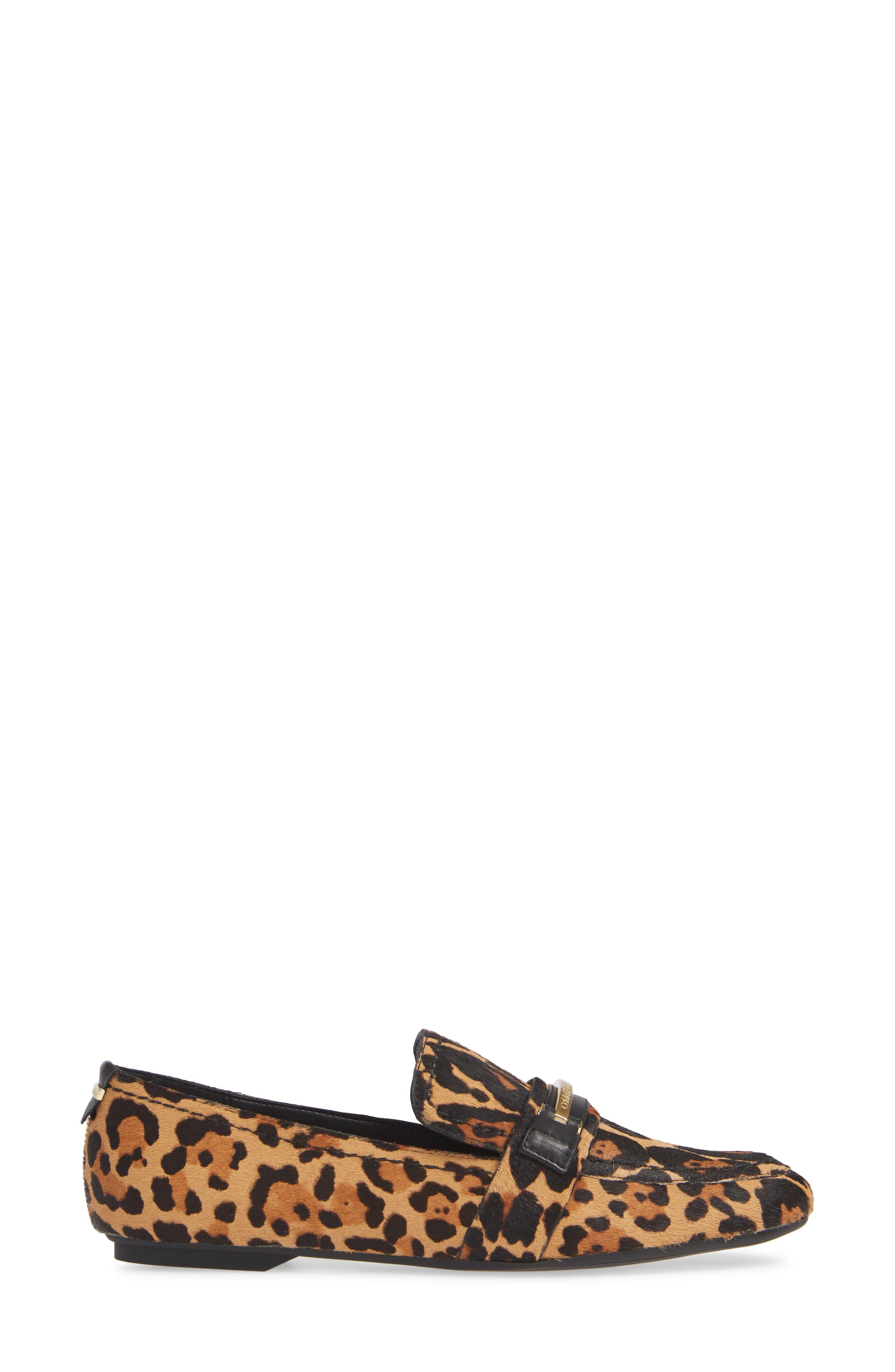 Orianna Genuine Calf Hair Loafer,                             Alternate thumbnail 3, color,                             LEOPARD CALF HAIR