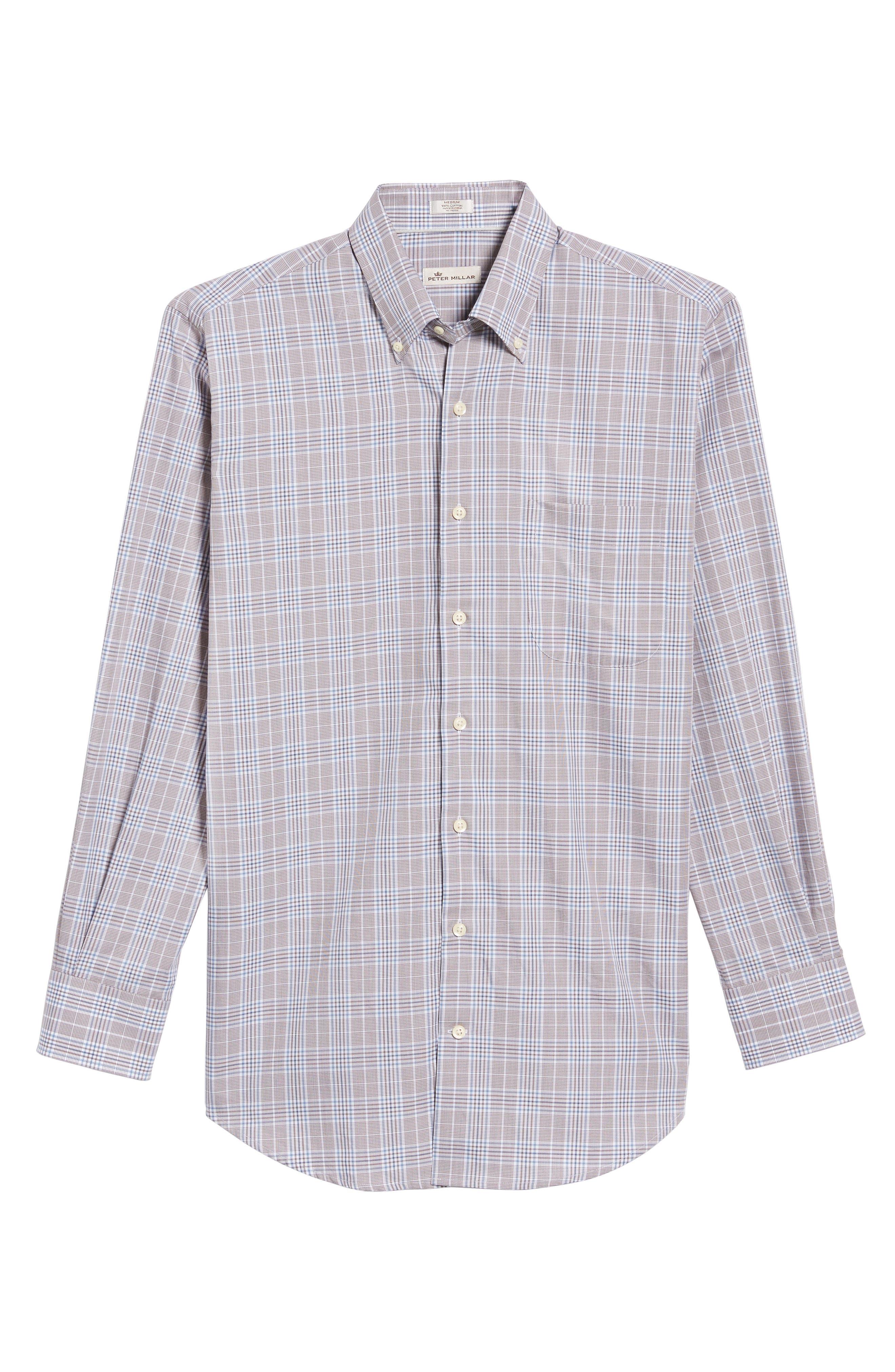 River Glen Plaid Regular Fit Sport Shirt,                             Alternate thumbnail 6, color,                             230