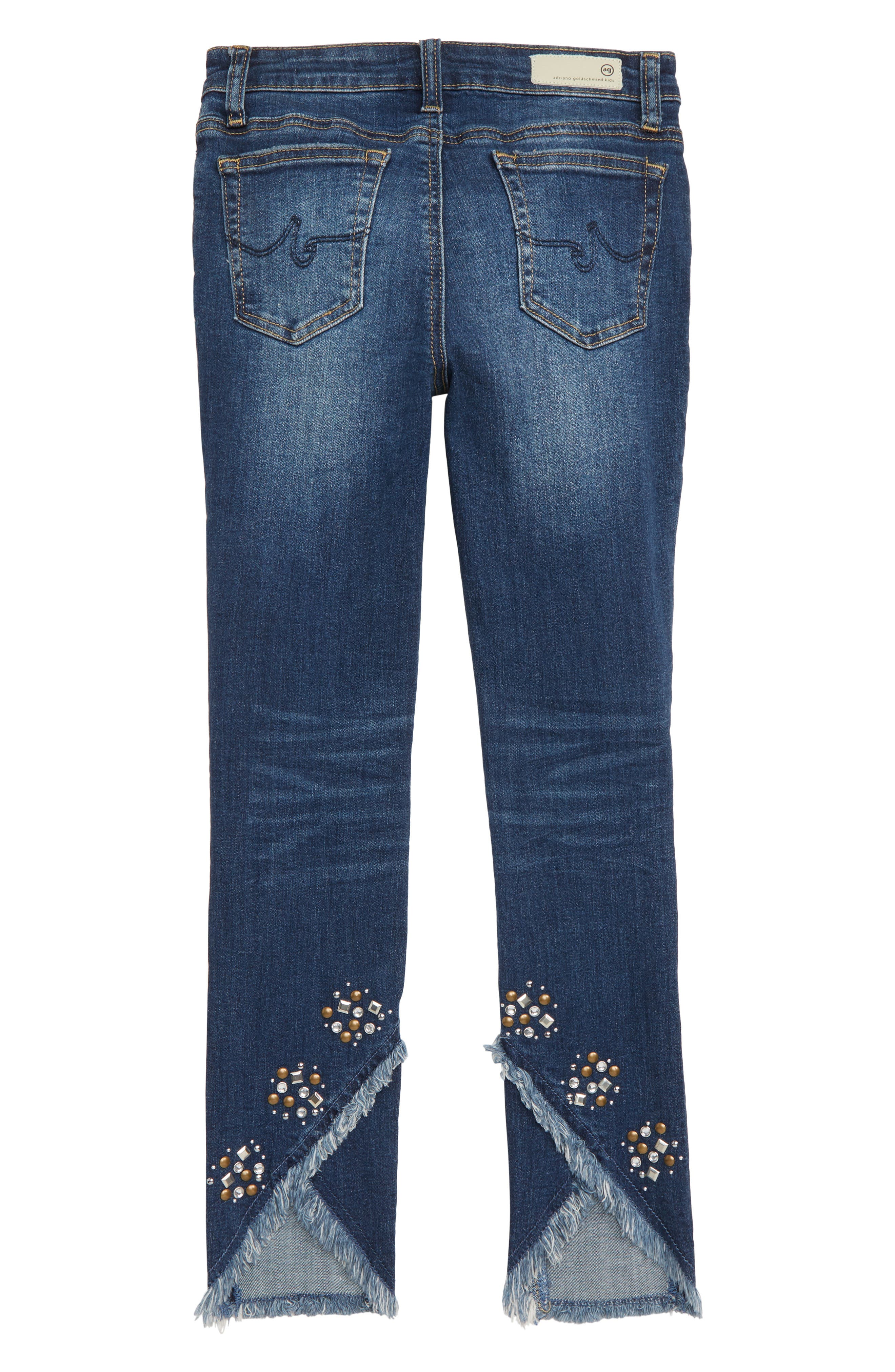The Izzy Studded Skinny Ankle Jeans,                             Alternate thumbnail 2, color,                             VINTAGE SKY