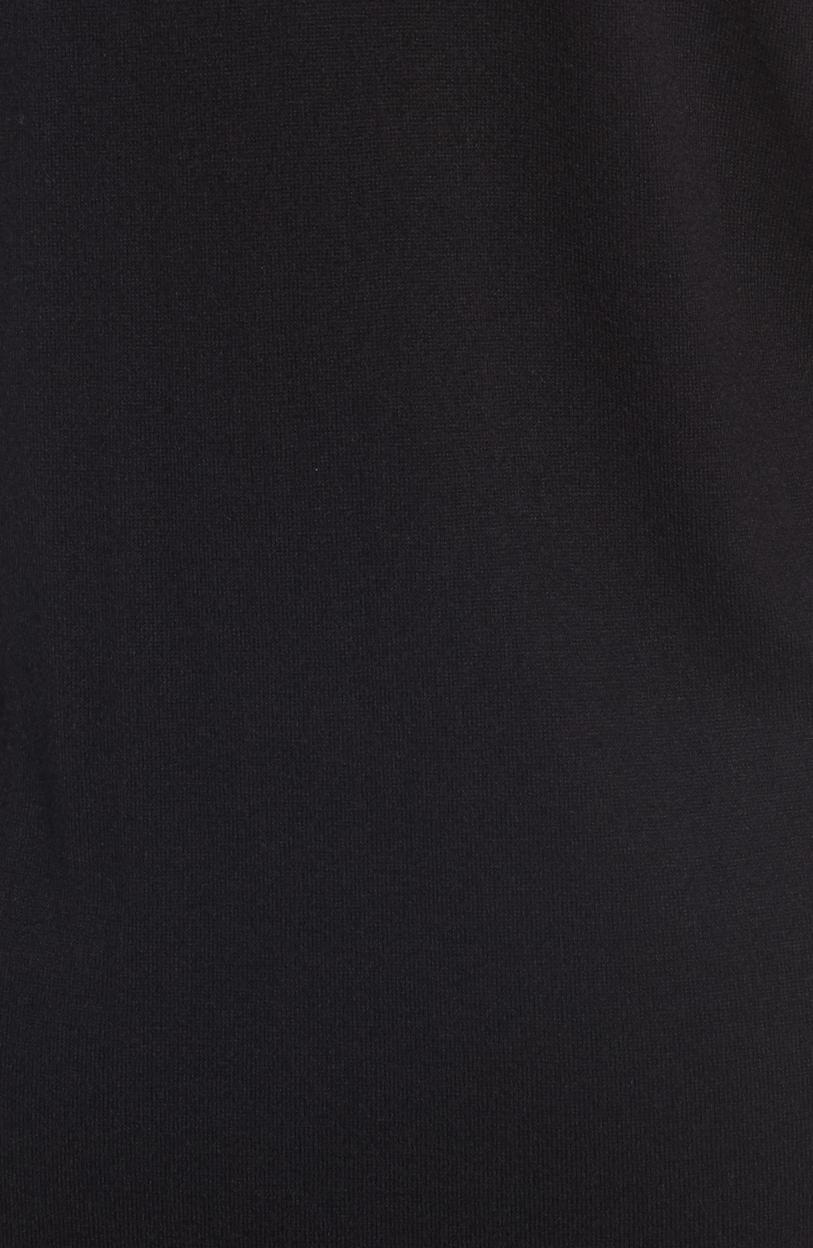 Long Open Front Cardigan,                             Alternate thumbnail 5, color,                             001