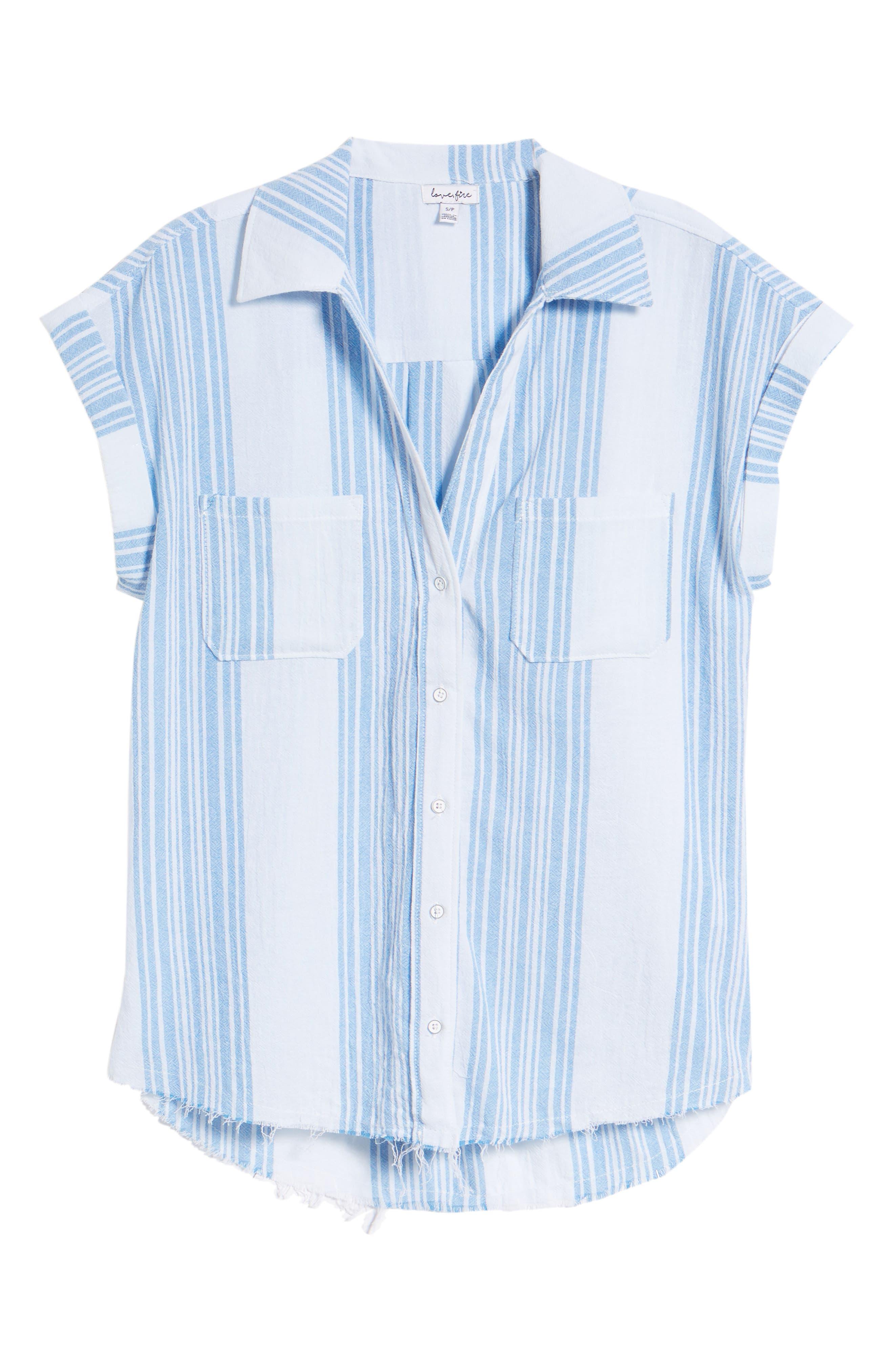Stripe Camp Shirt,                             Alternate thumbnail 6, color,                             400