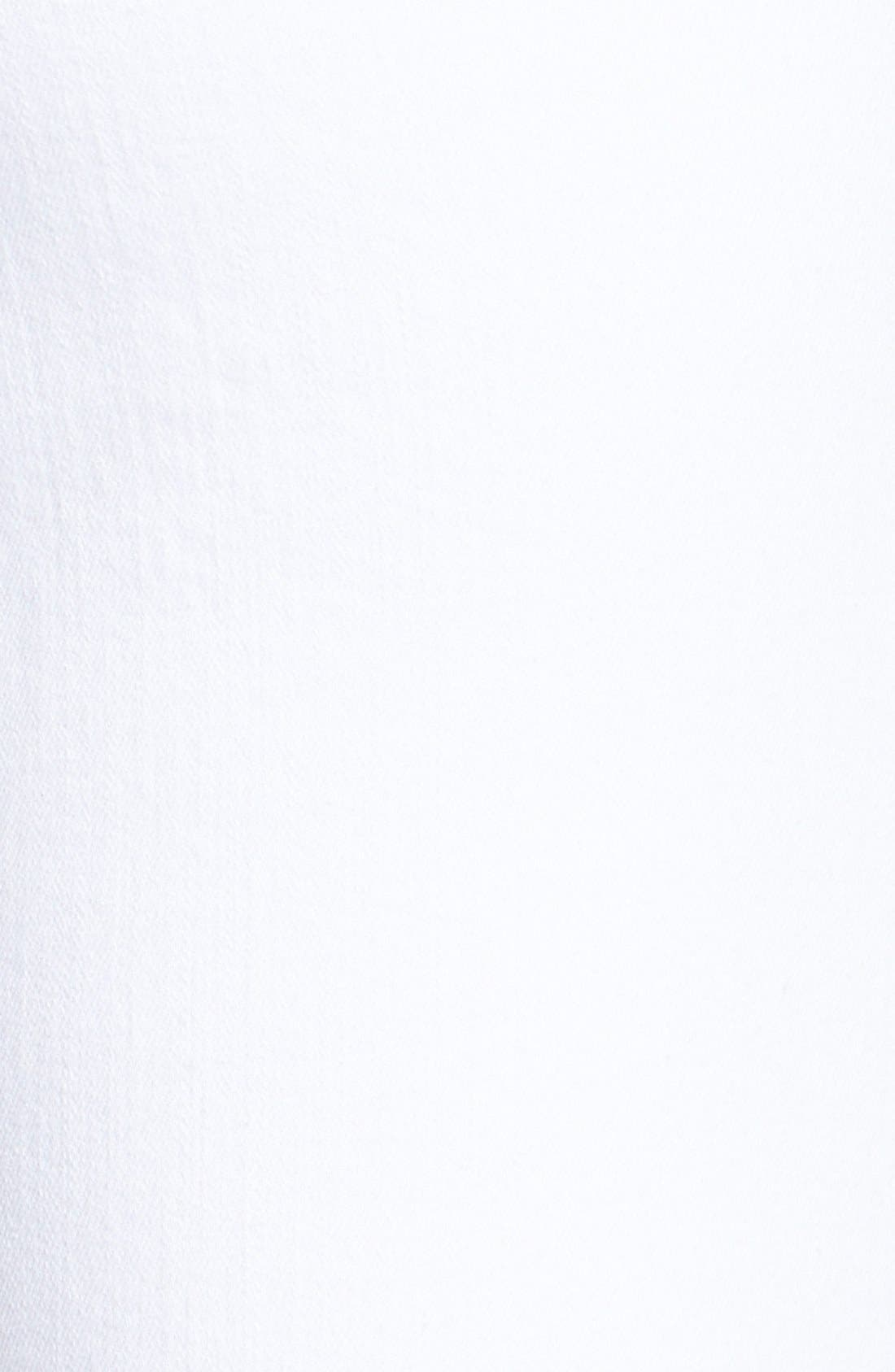 Stretch Crop Skinny Jeans,                             Alternate thumbnail 3, color,                             WHITE DENIM