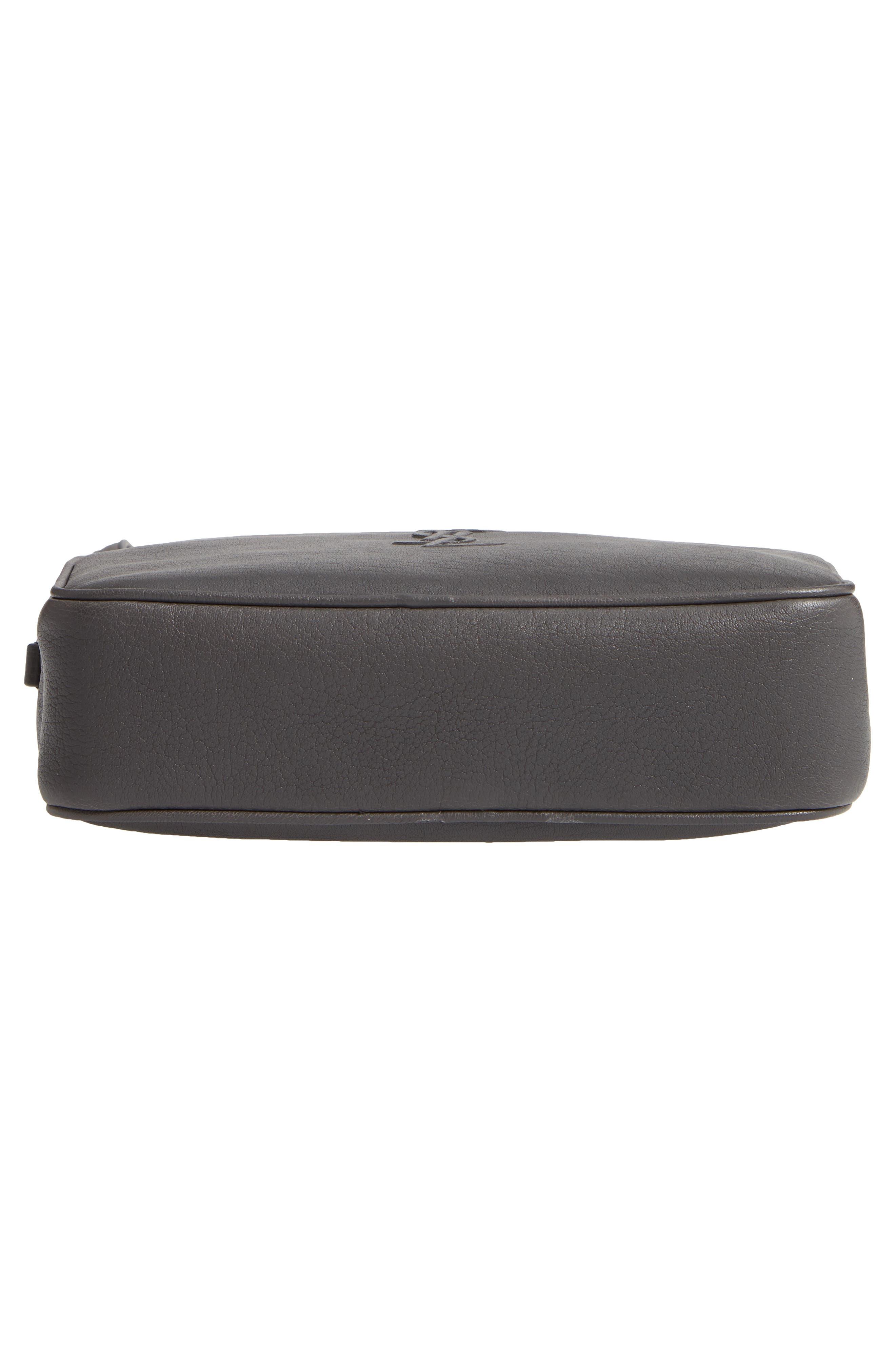 Small Mono Leather Camera Bag,                             Alternate thumbnail 6, color,                             STORM