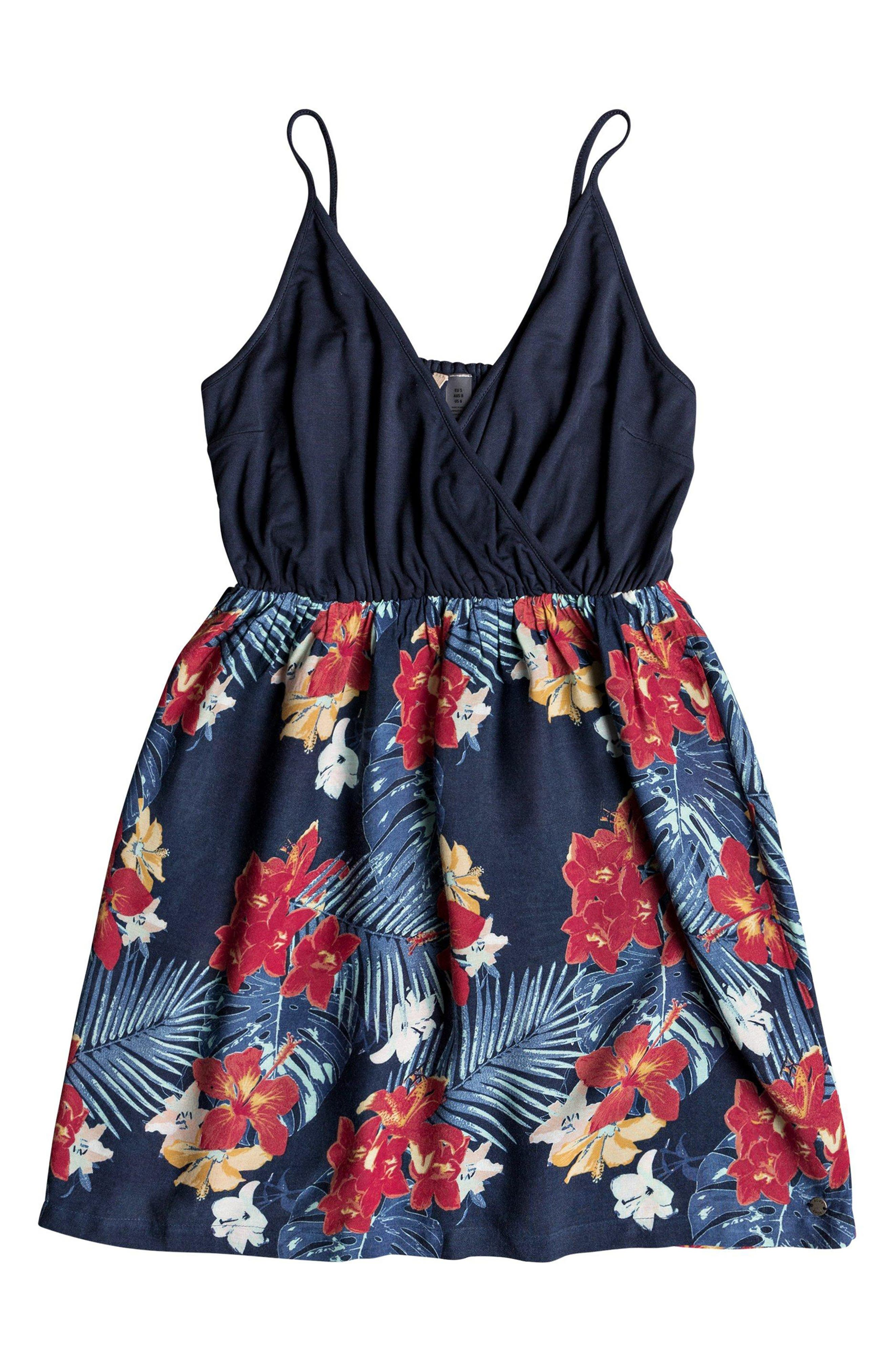 Floral Offering Minidress,                             Alternate thumbnail 3, color,                             DRESS BLUE