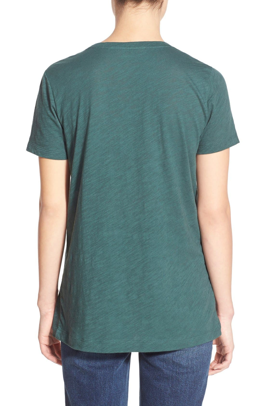 Whisper Cotton V-Neck Pocket Tee,                             Alternate thumbnail 60, color,