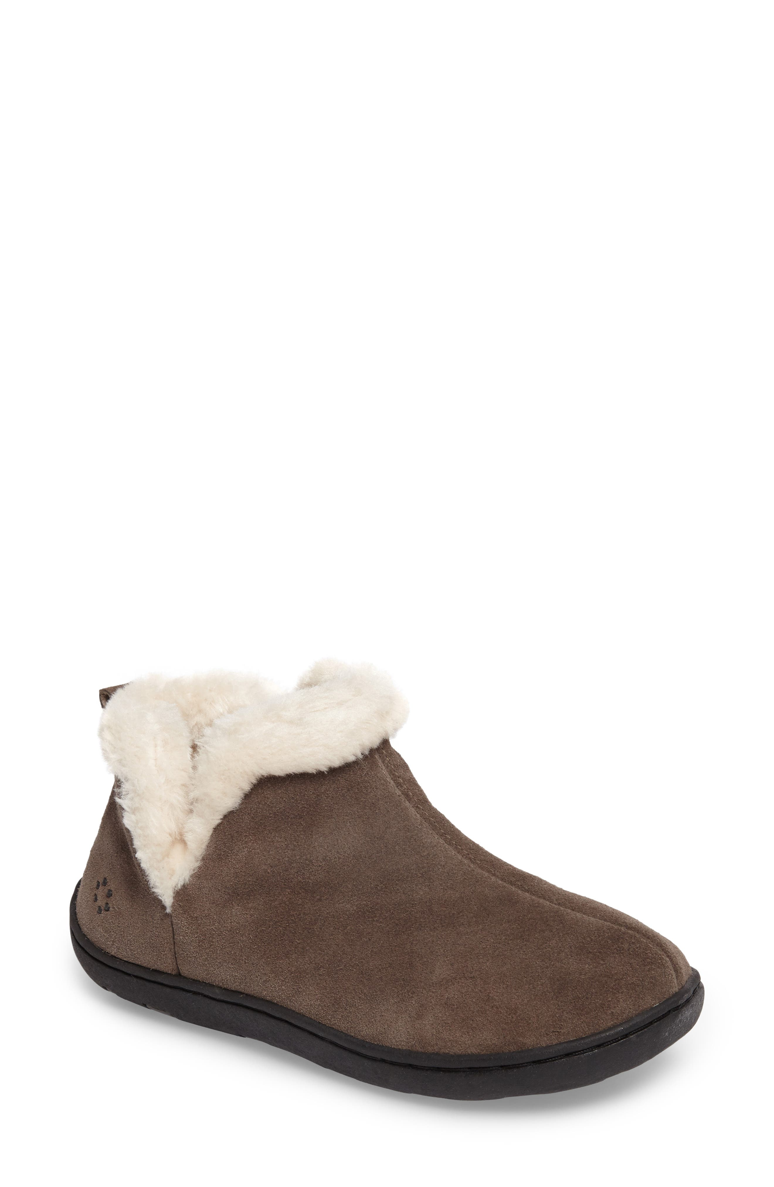 Vallery Bootie Slipper,                             Main thumbnail 1, color,                             GRAY SUEDE