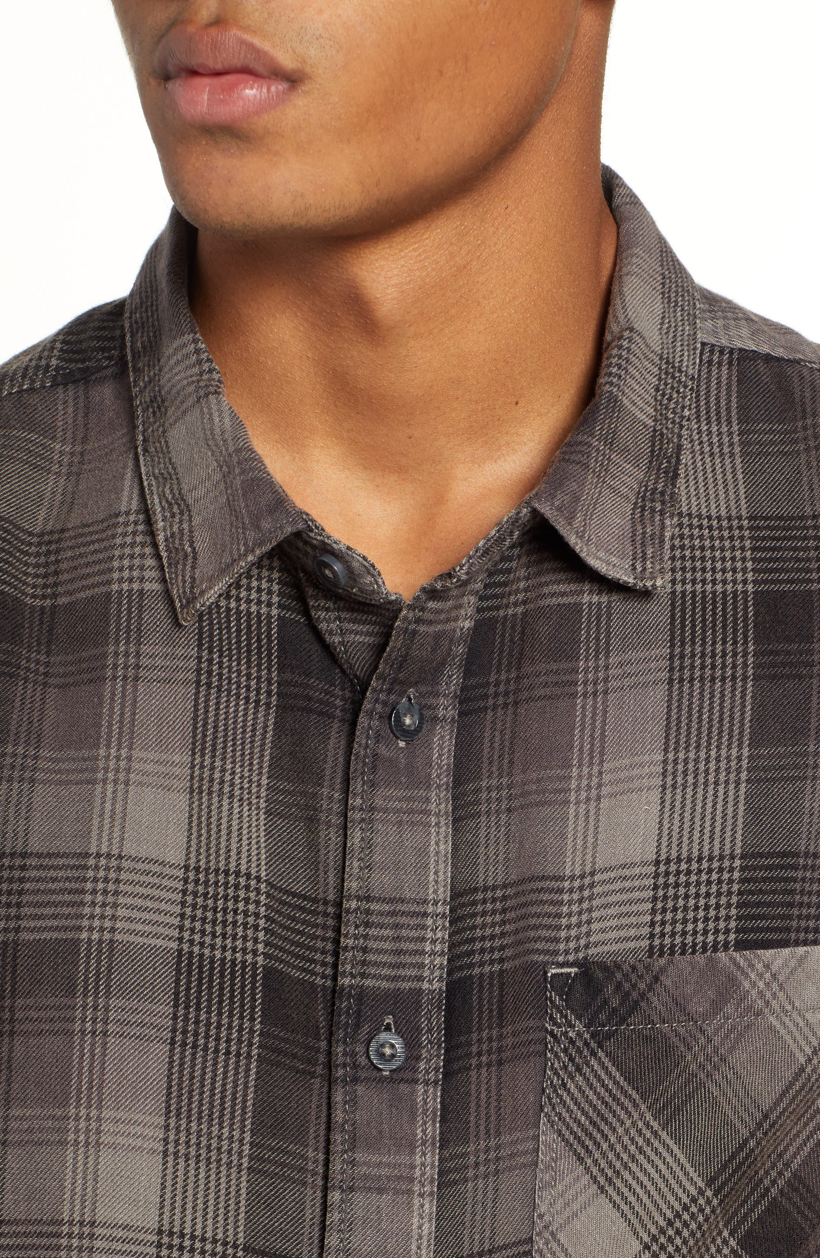 Freemont Flannel Shirt,                             Alternate thumbnail 2, color,                             CHARCOAL