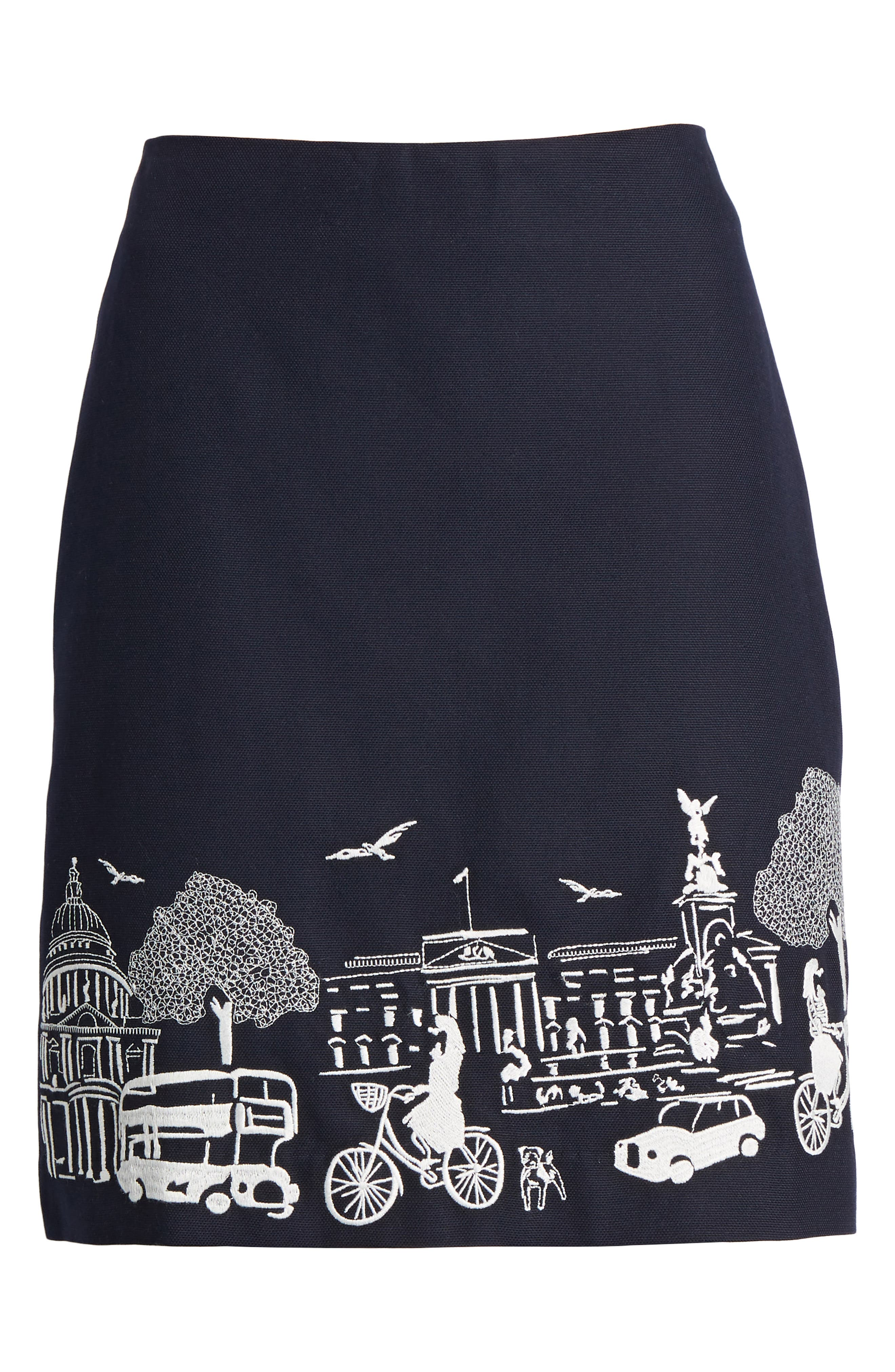 Tilda Embroidered Cotton Skirt,                             Alternate thumbnail 6, color,                             414