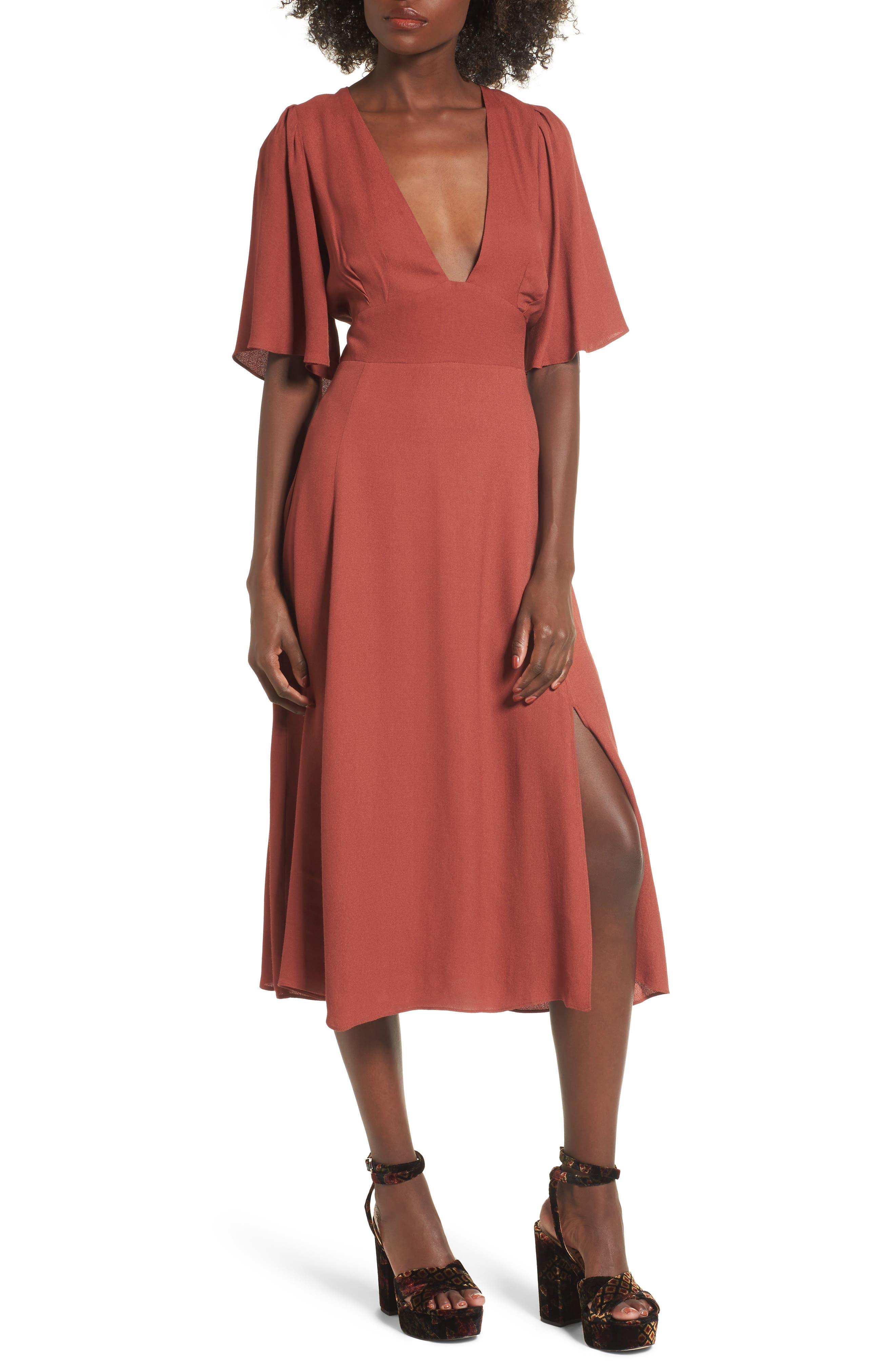 Zelda Open Back Midi Dress,                         Main,                         color, 600