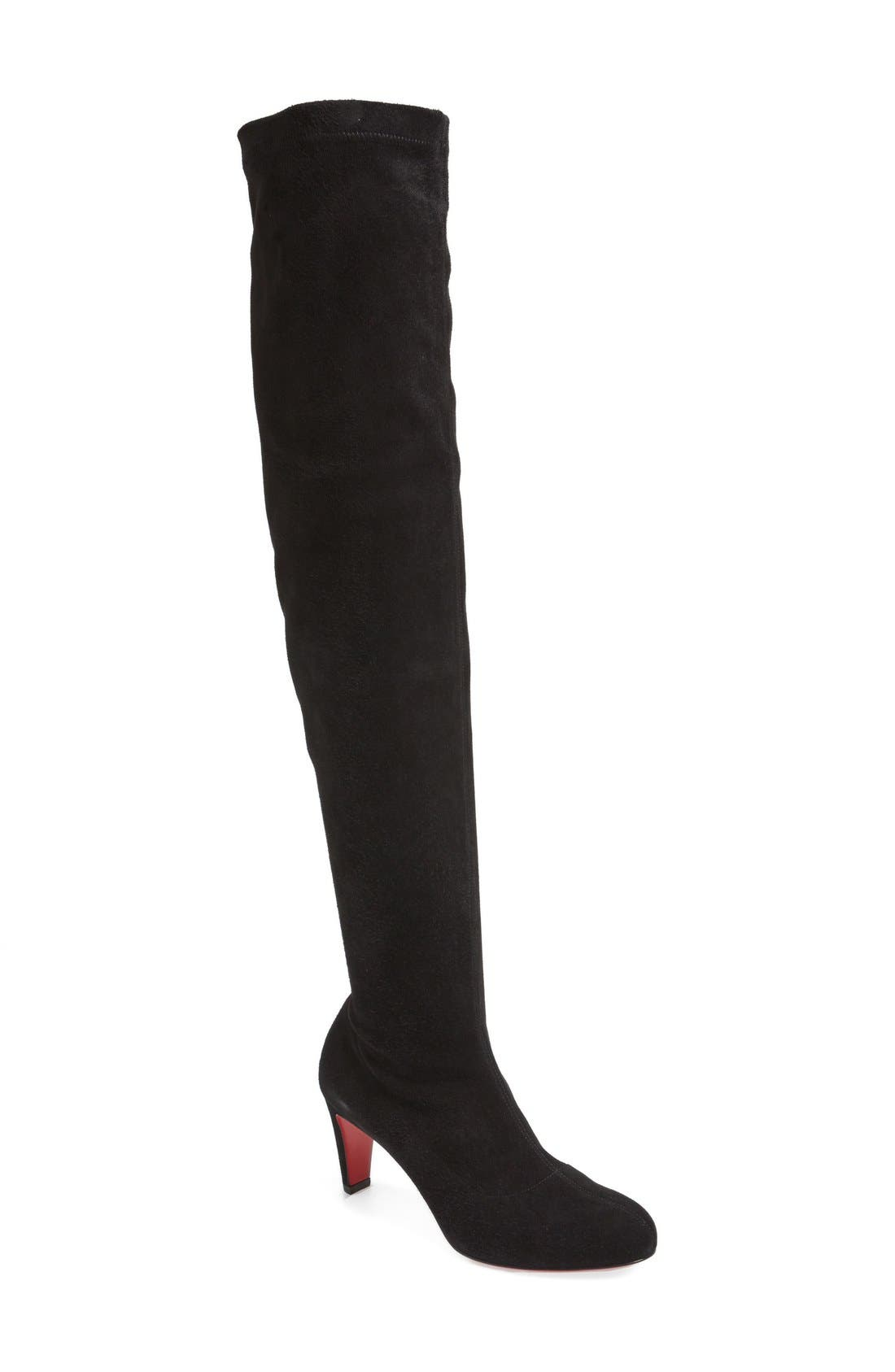 'Alta' Over the Knee Boot,                             Main thumbnail 1, color,                             001