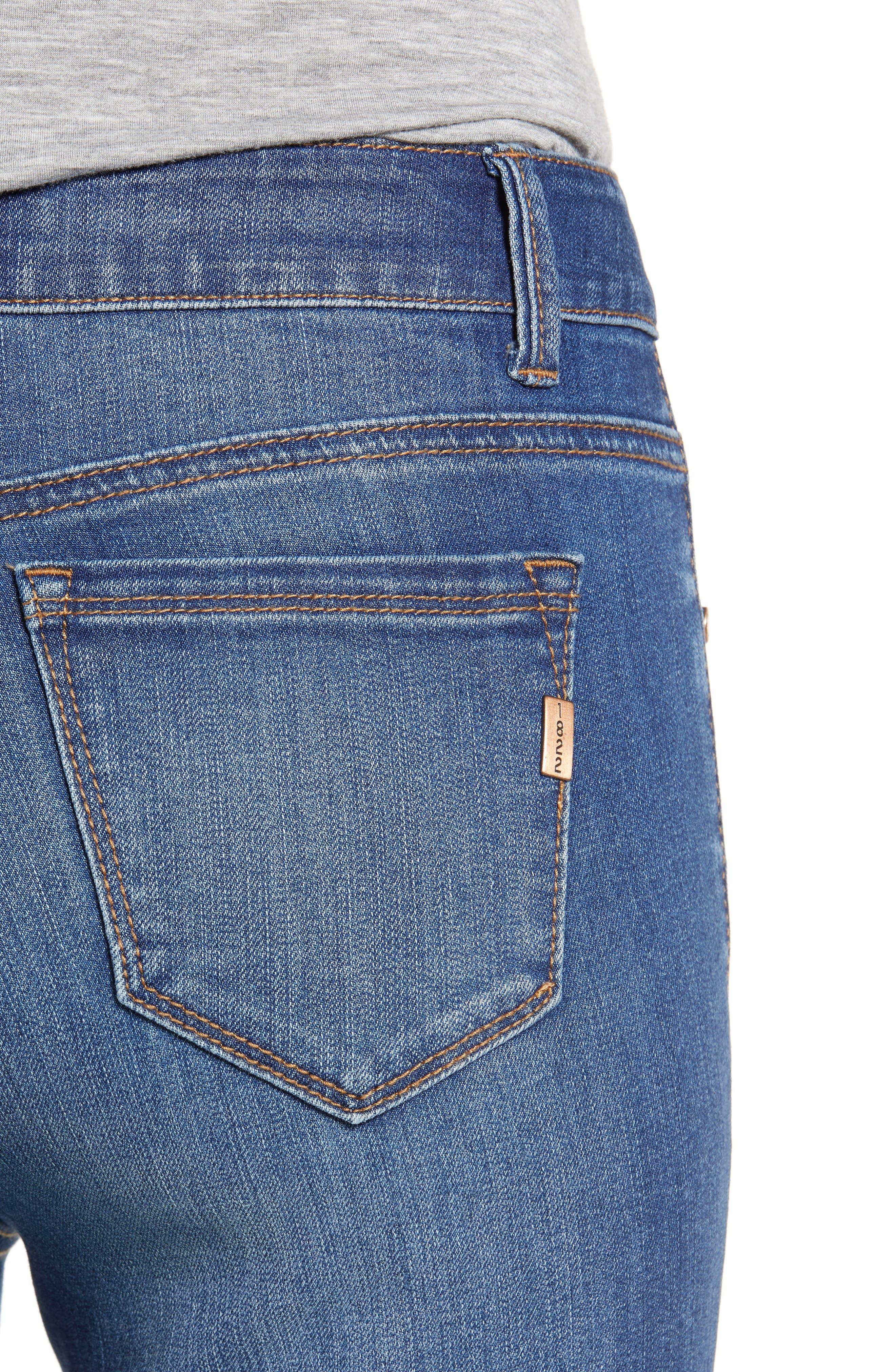 Crop Bootcut Jeans,                             Alternate thumbnail 4, color,                             TESSA