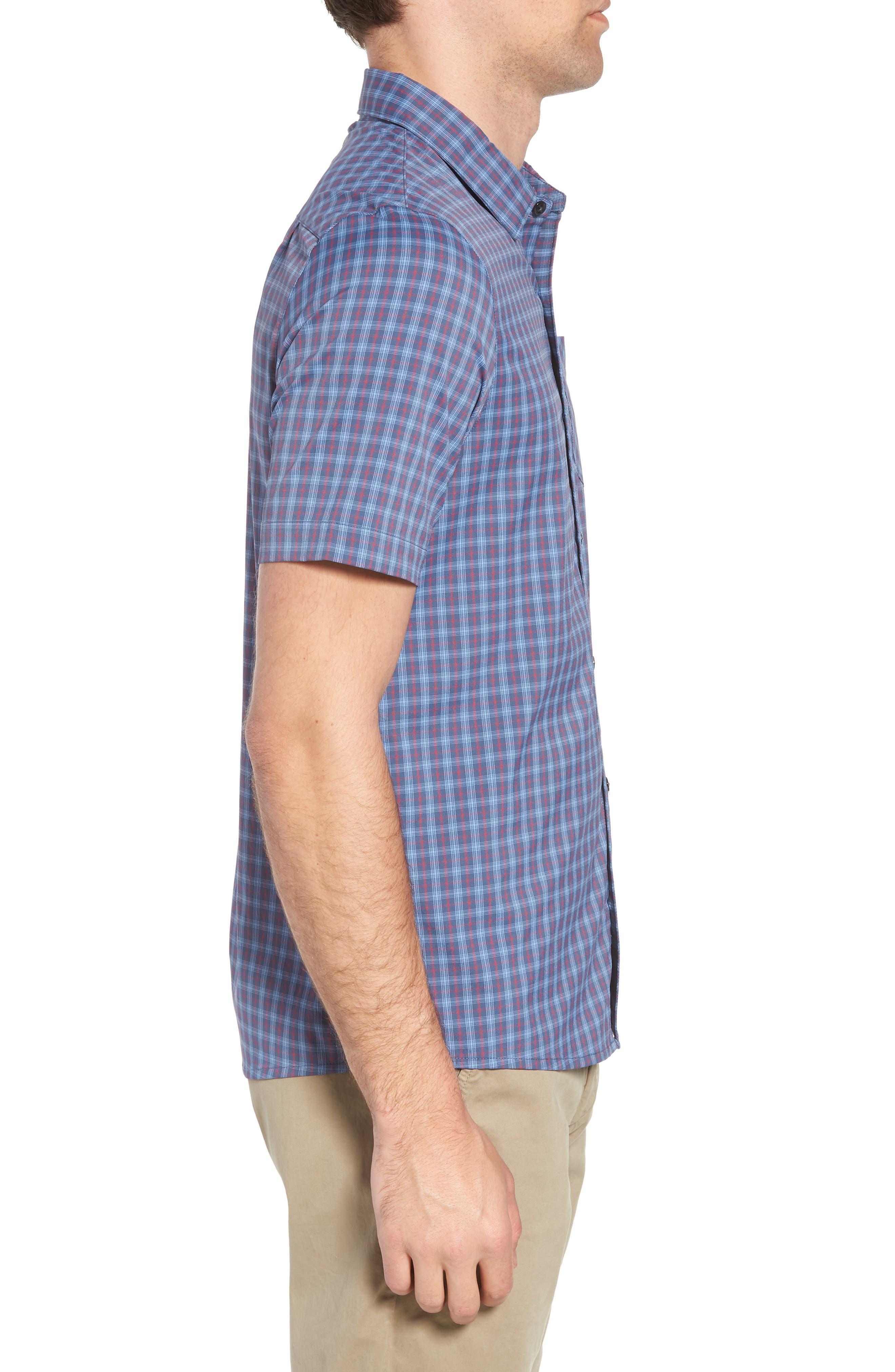 Smoke Bomb Regular Fit Short Sleeve Sport Shirt,                             Alternate thumbnail 3, color,                             400