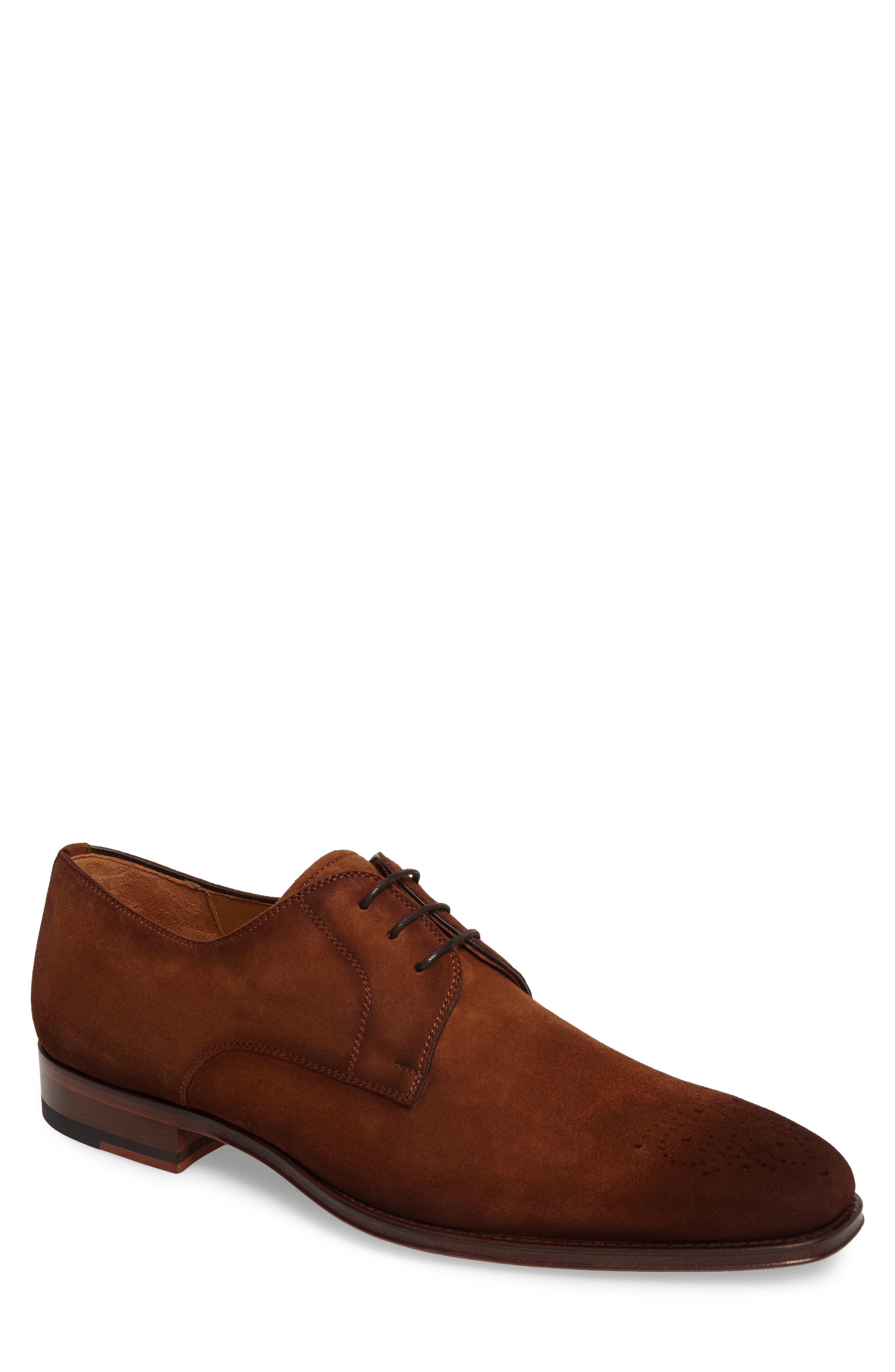 Ezekiel Plain Toe Derby,                         Main,                         color, COGNAC LEATHER