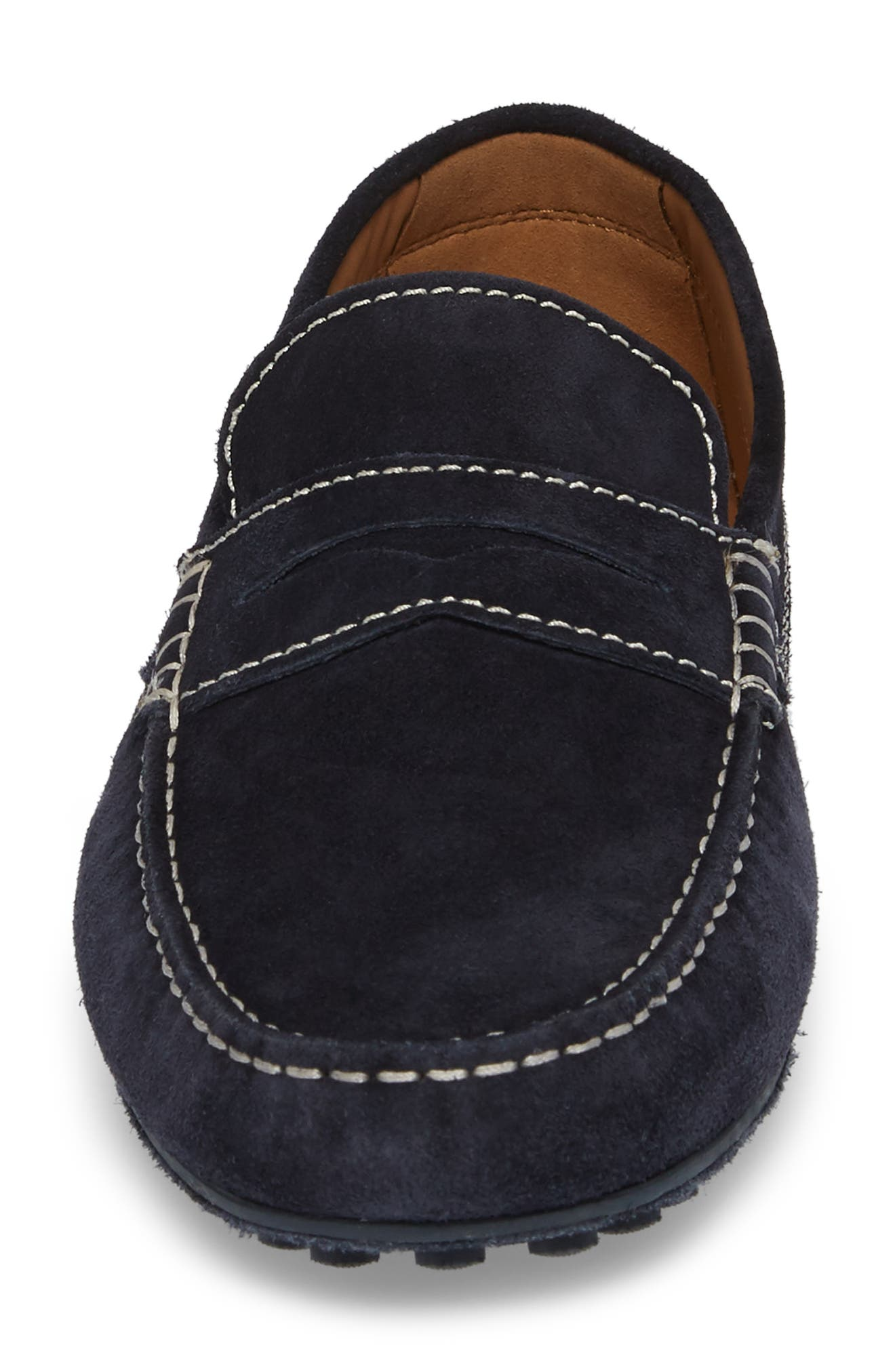 ROBERT TALBOTT,                             Penny Loafer,                             Alternate thumbnail 4, color,                             NAVY