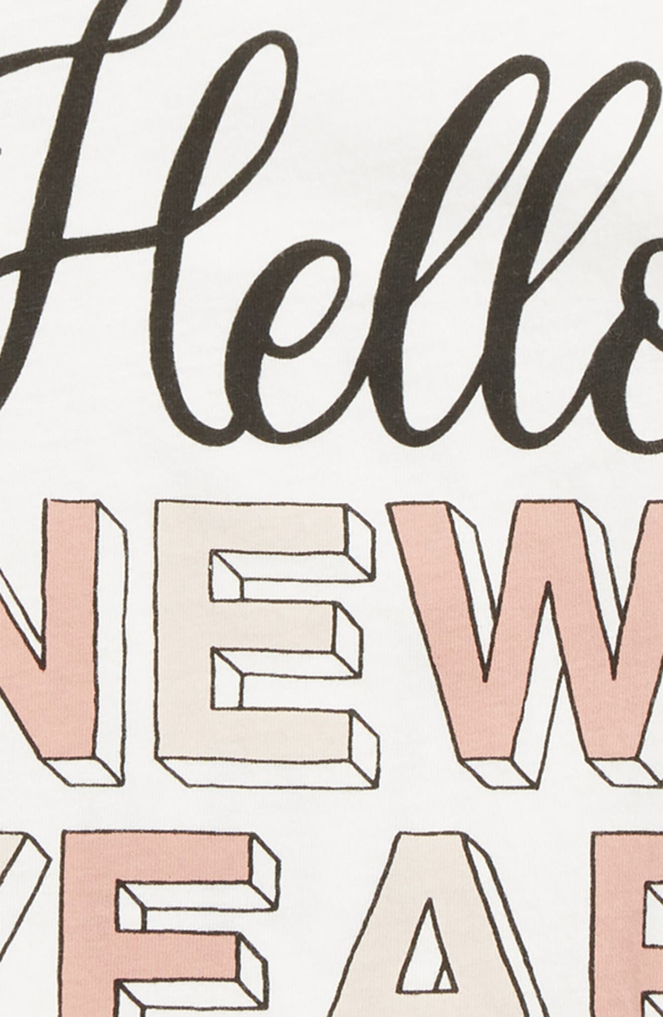 Hello New Year Tee,                             Alternate thumbnail 3, color,                             IVORY
