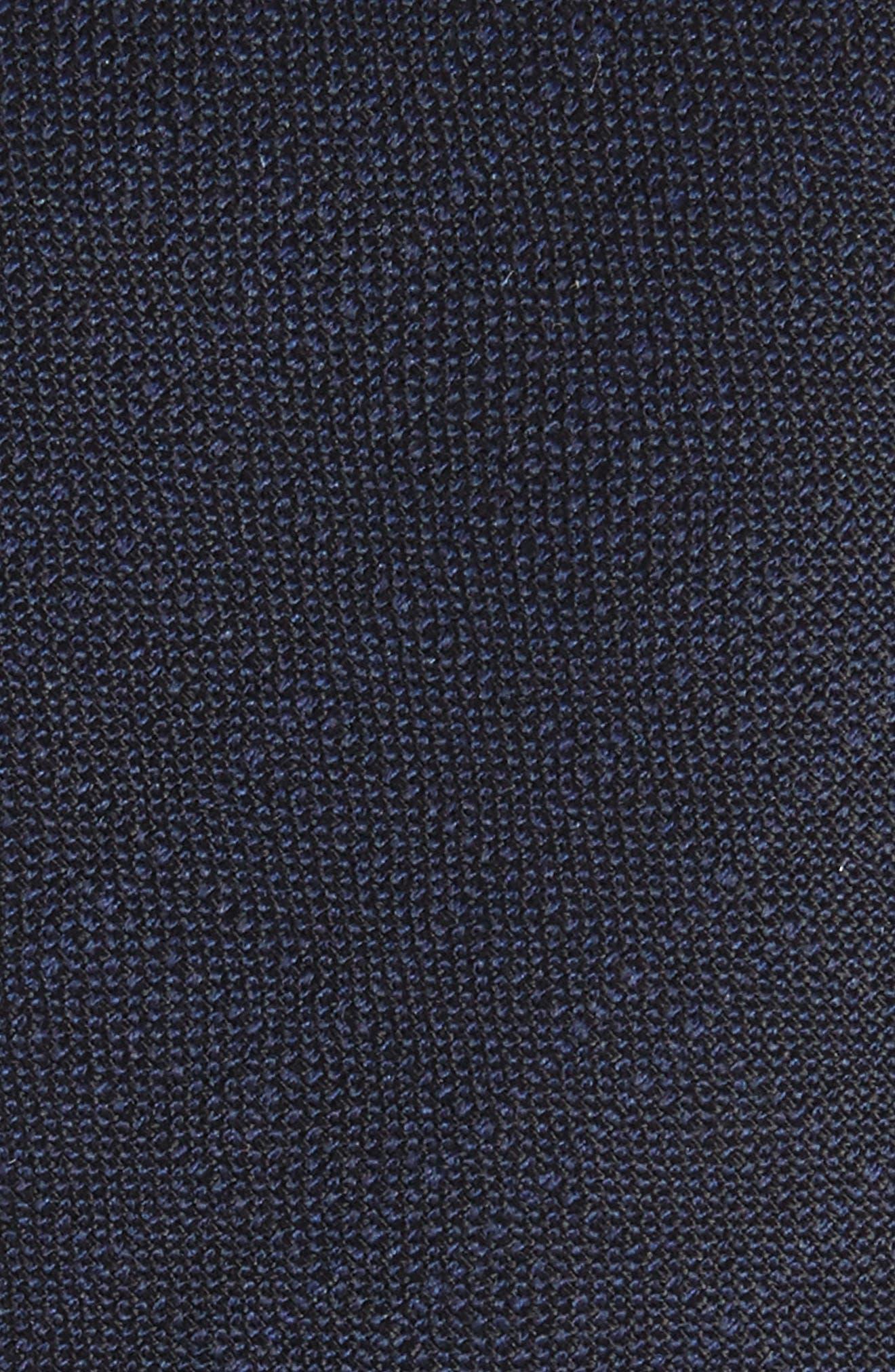 Jaspé Wool Skinny Tie,                             Alternate thumbnail 2, color,