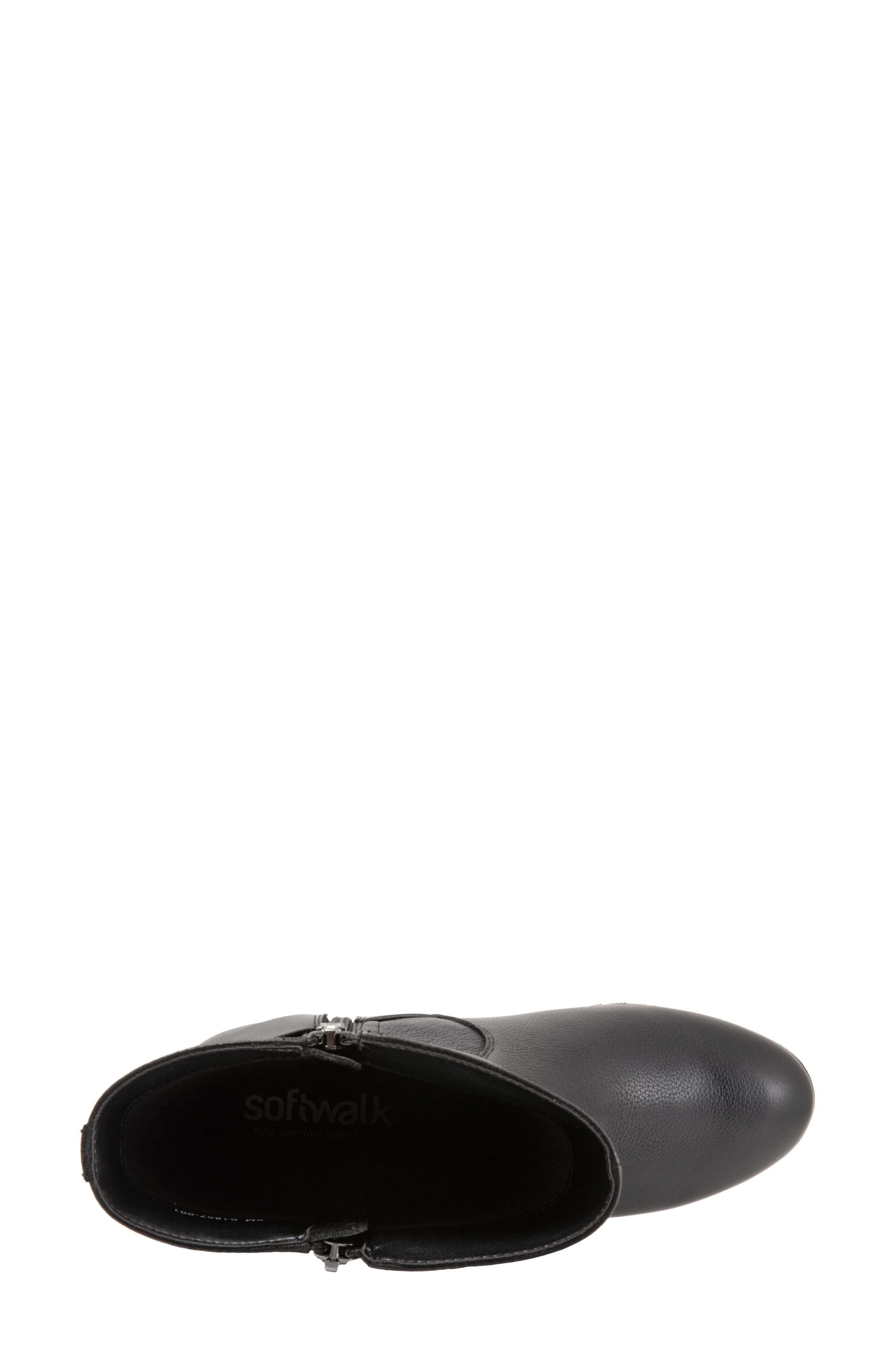 Marlowe Boot,                             Alternate thumbnail 5, color,                             BLACK LEATHER