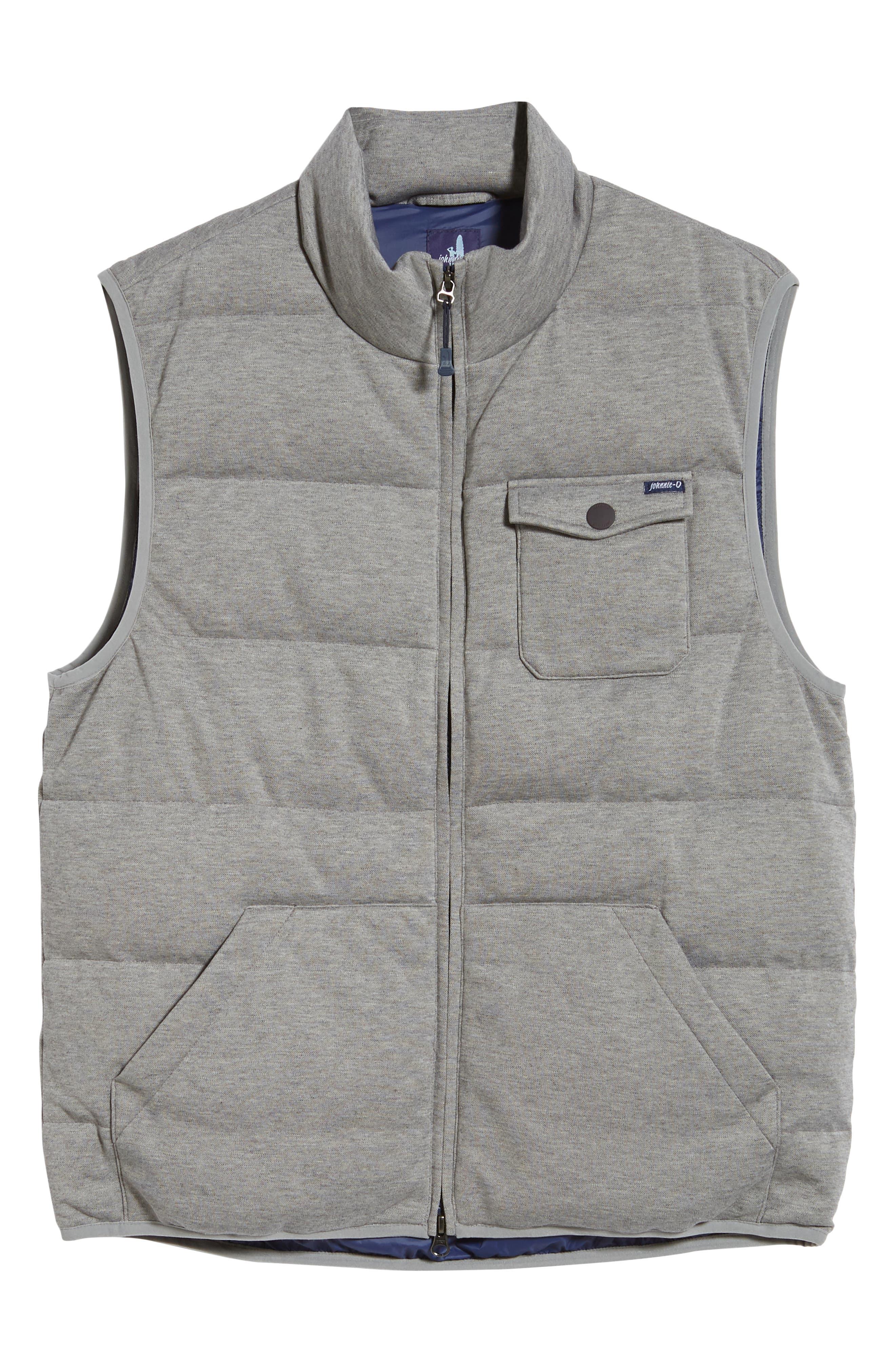 Lassiter Classic Fit Down Camper Vest,                             Alternate thumbnail 5, color,                             LIGHT GREY