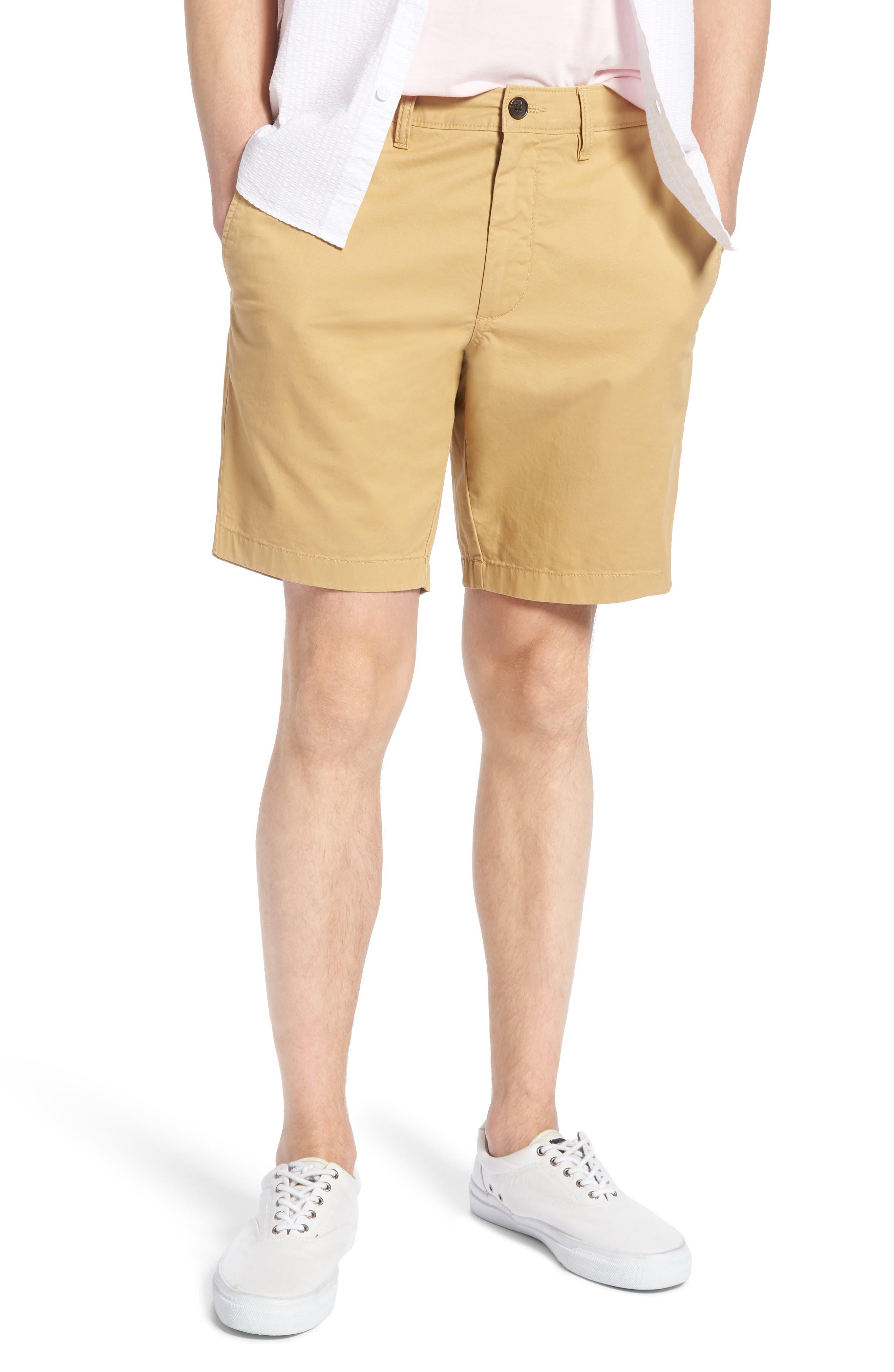 Ballard Slim Fit Stretch Chino 9-Inch Shorts,                         Main,                         color, TAN LARK