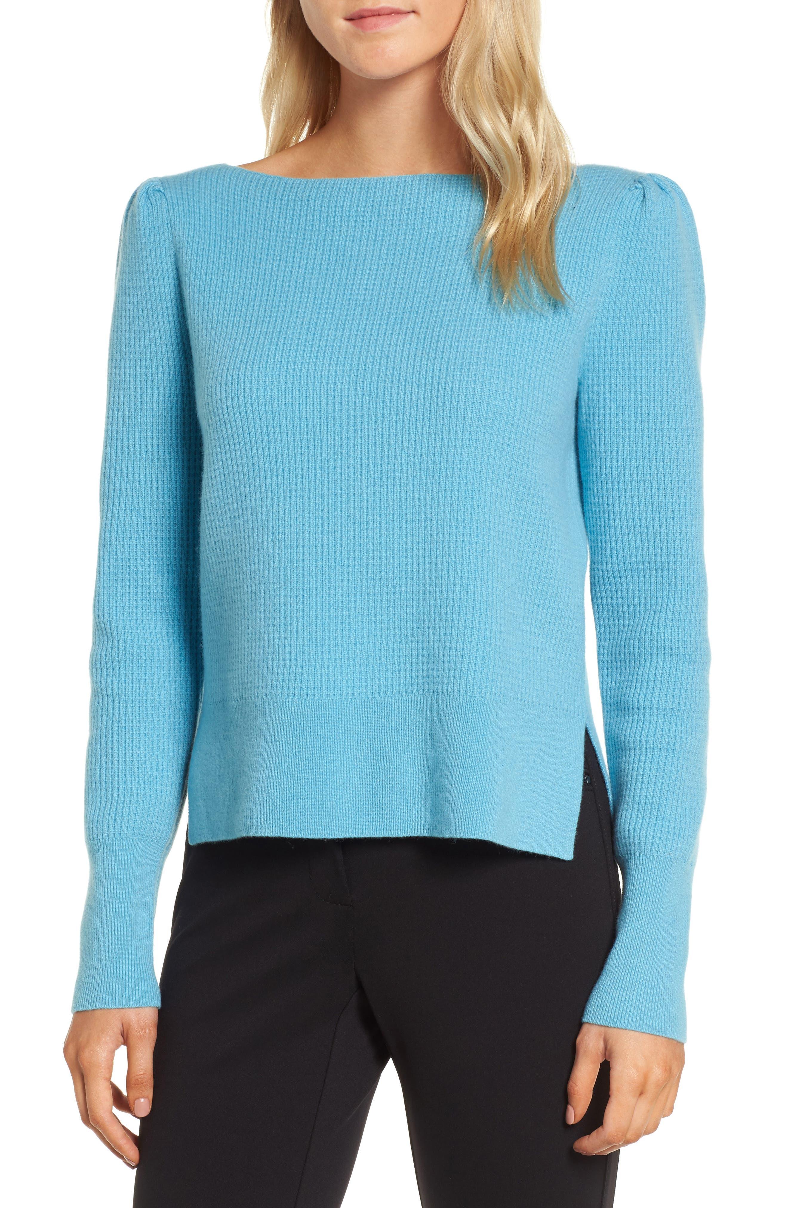 Waffle Stitch Cashmere Sweater,                             Main thumbnail 1, color,