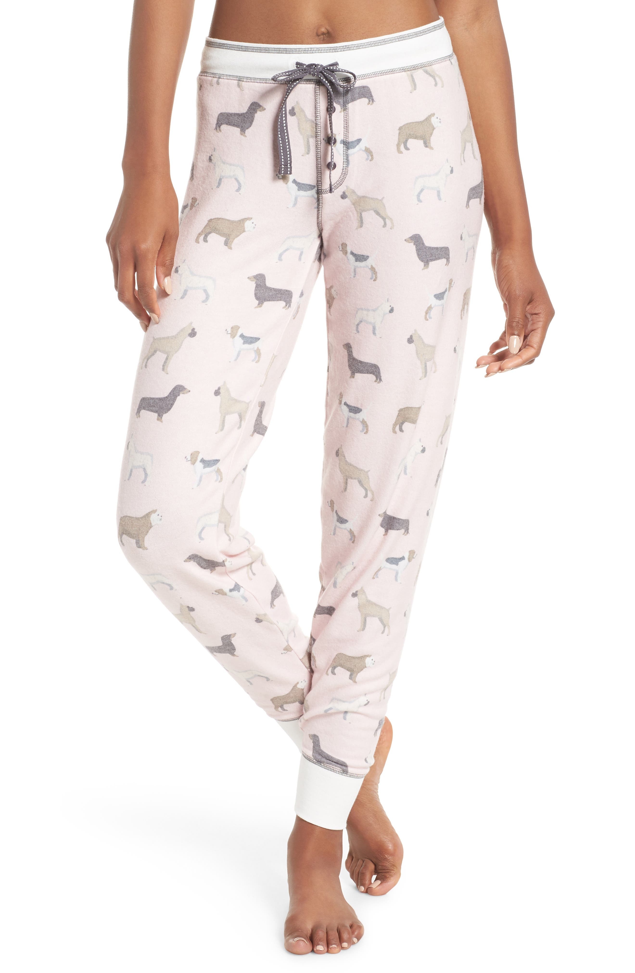 Banded Lounge Pants,                         Main,                         color, PINK