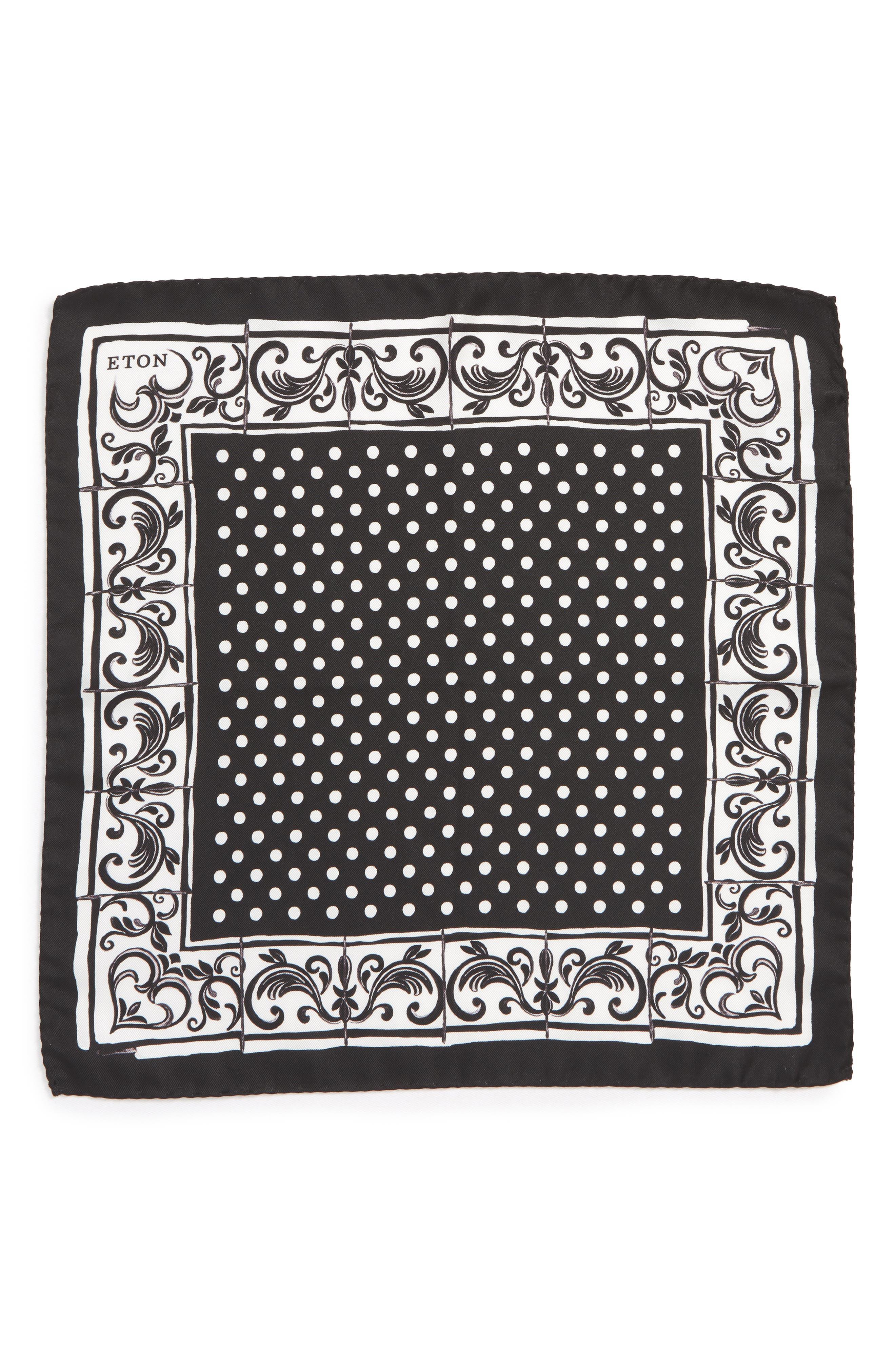 Dot Silk Pocket Square,                             Alternate thumbnail 2, color,                             400