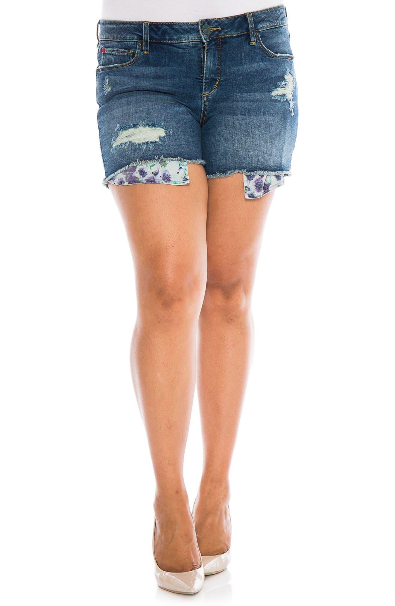 Exposed Pocket Denim Shorts,                             Main thumbnail 1, color,                             426