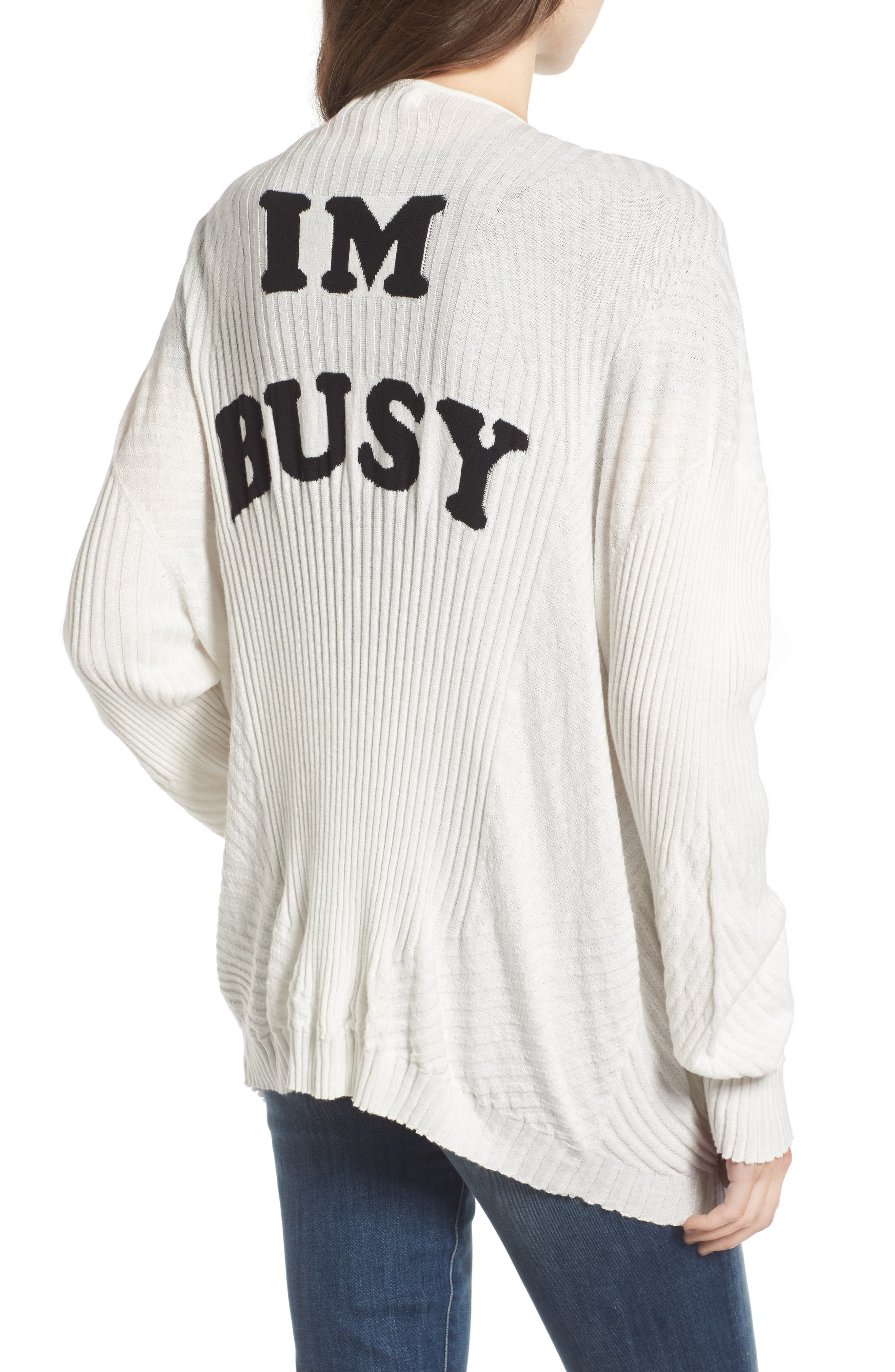I'm Busy Cardigan,                             Alternate thumbnail 2, color,
