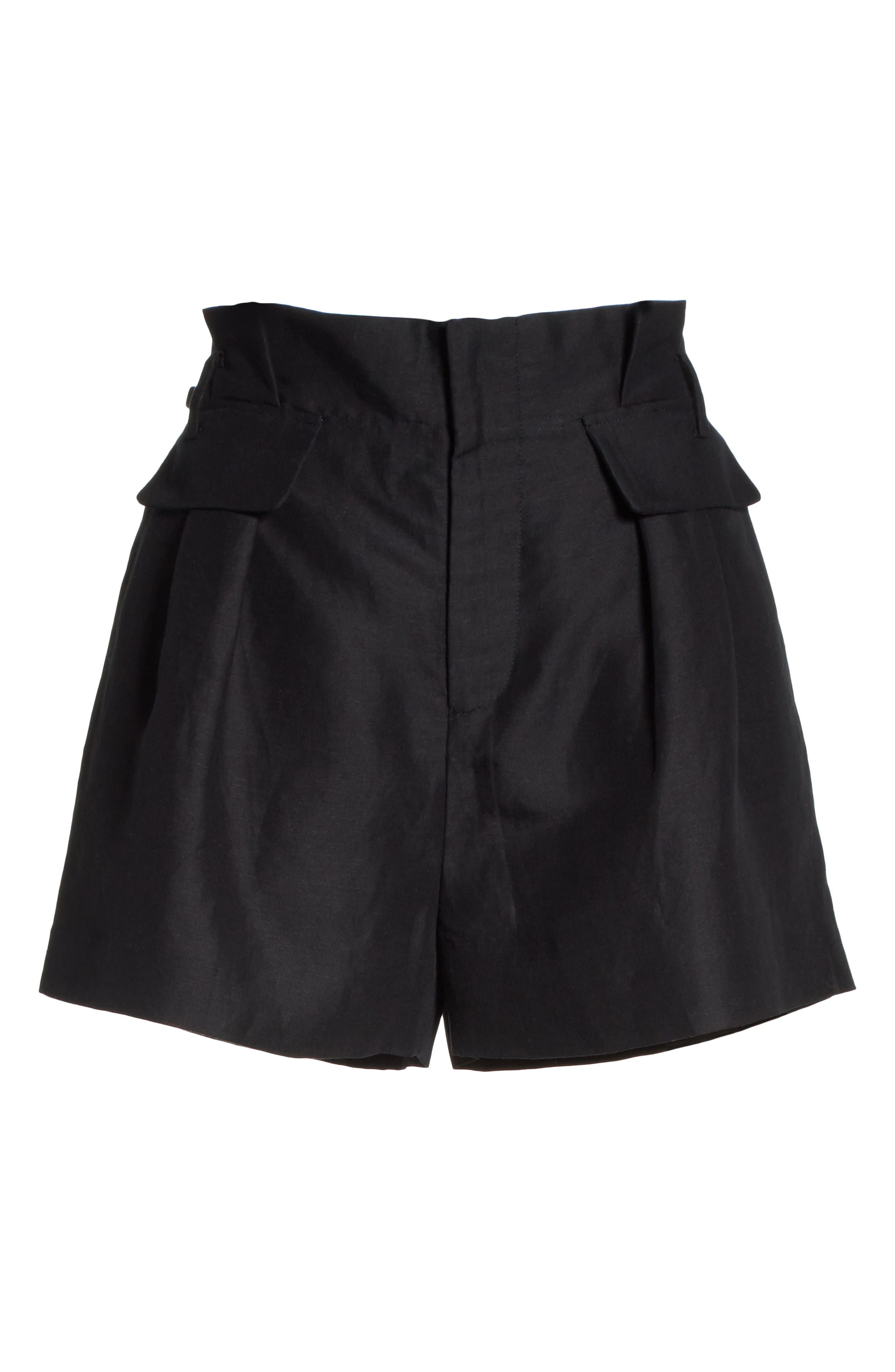 Paperbag Shorts,                             Alternate thumbnail 6, color,                             001
