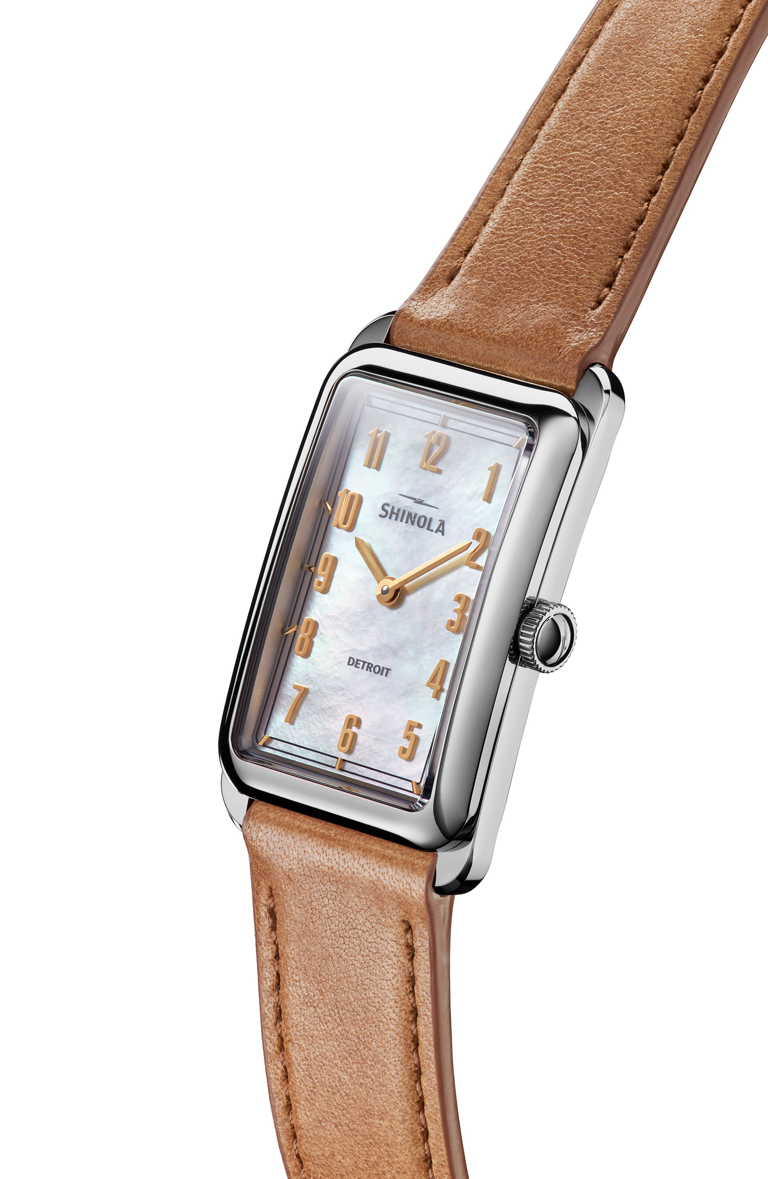The Muldowney Rectangular Leather Strap Watch, 24mm x 32mm,                             Alternate thumbnail 21, color,