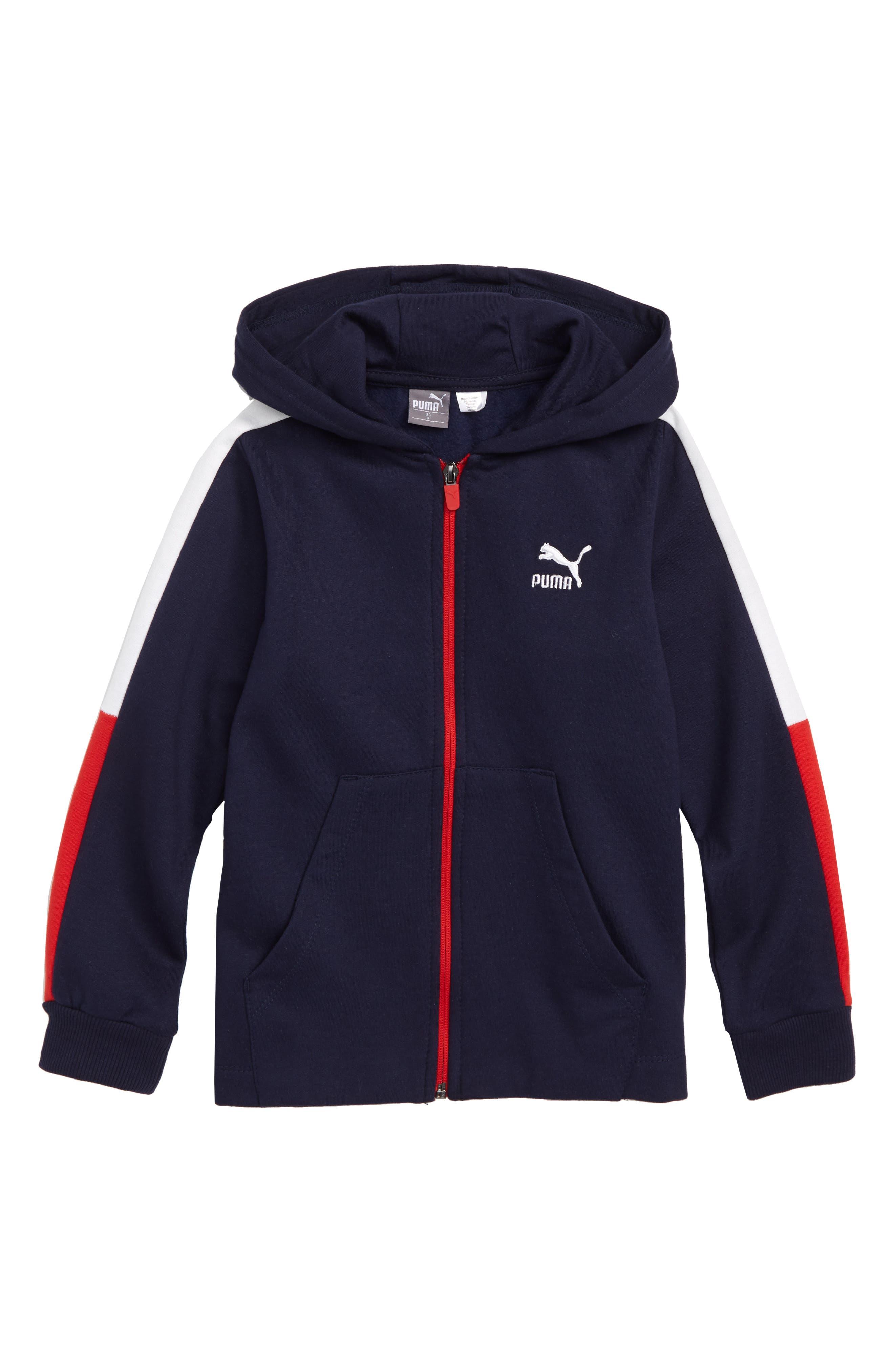 Fleece Zip-Up Hoodie,                         Main,                         color, PEA COAT