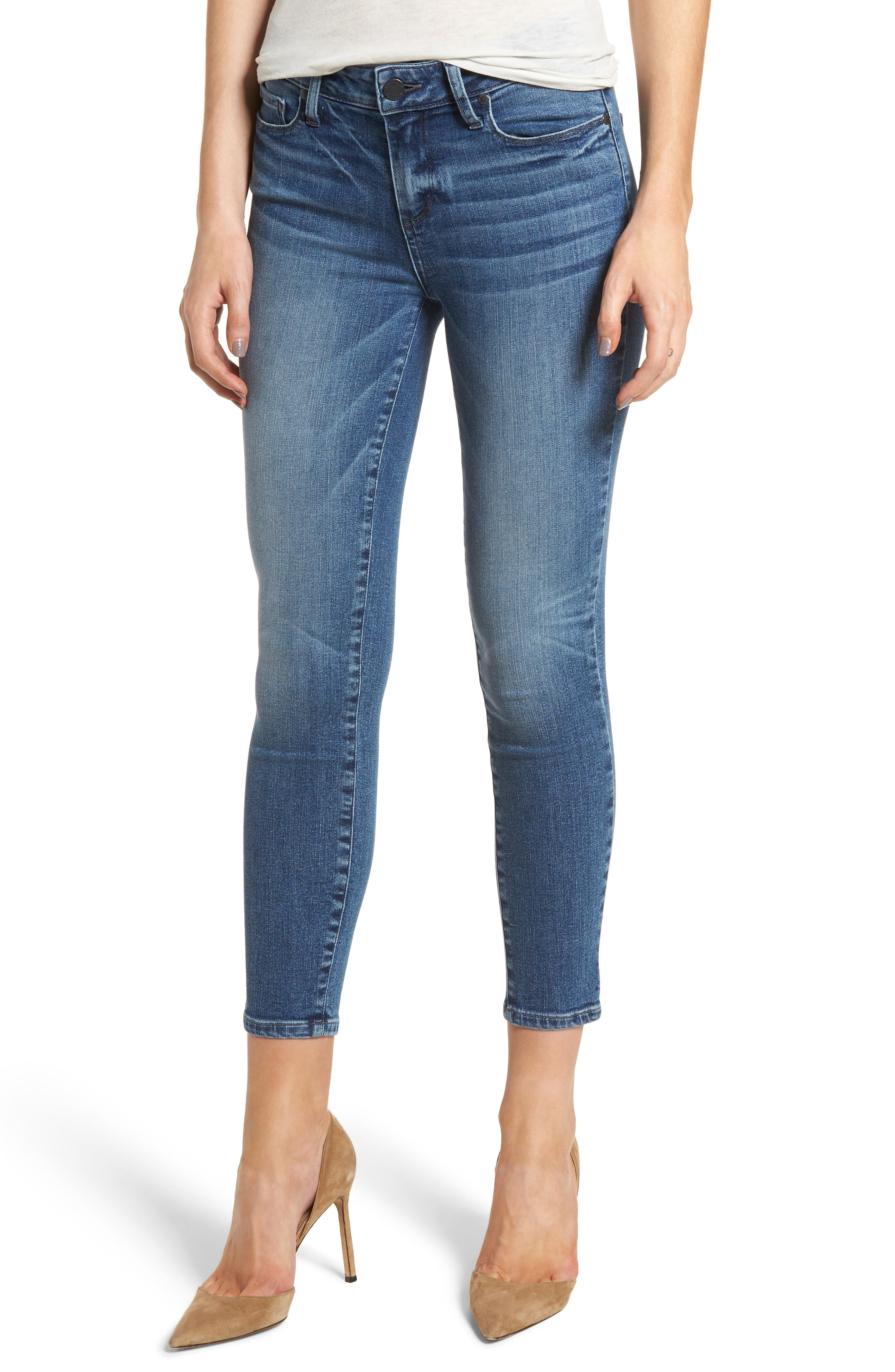 Transcend Vintage - Verdugo Crop Ultra Skinny Jeans,                             Main thumbnail 1, color,                             400