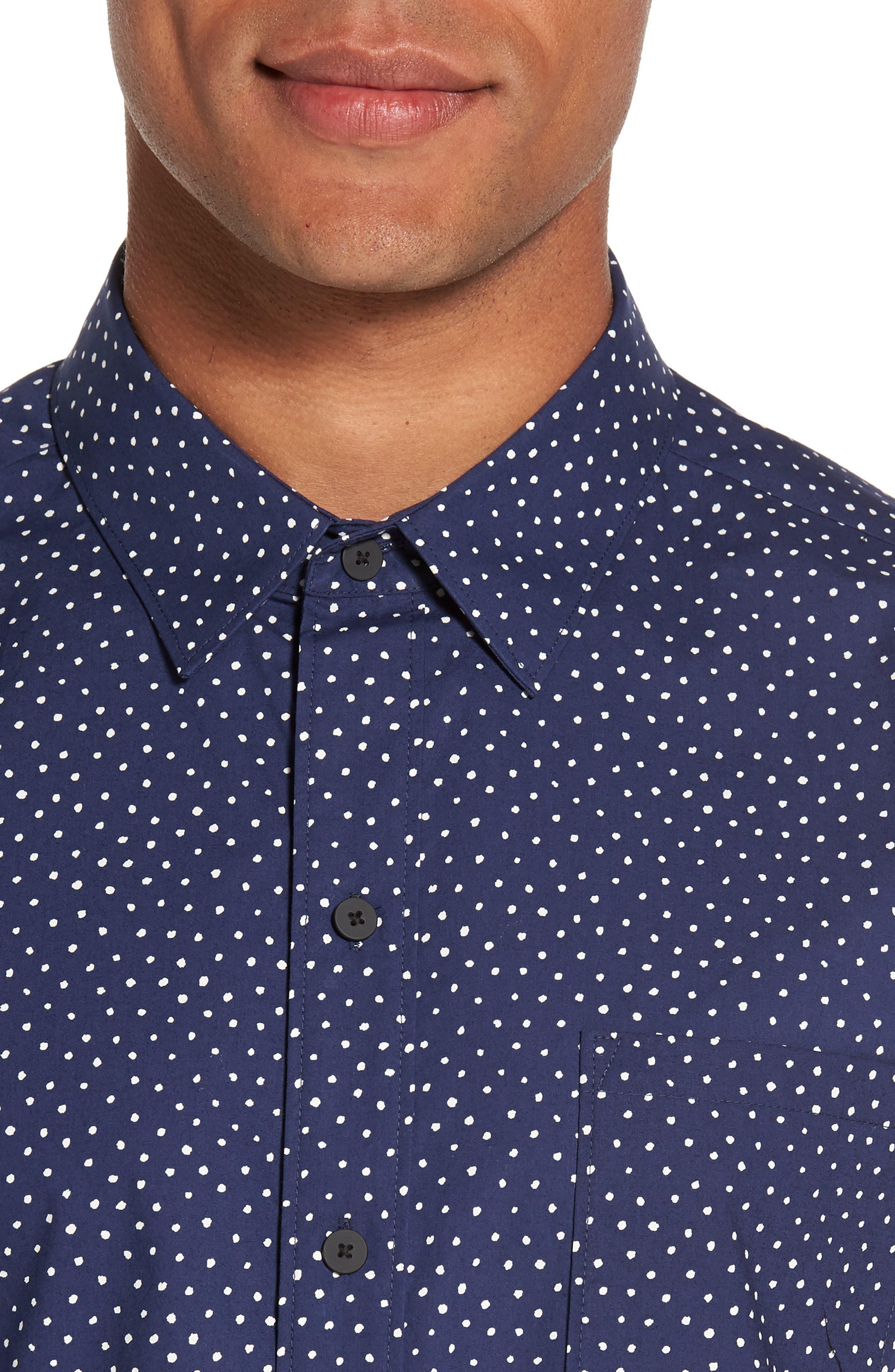 Becker Dot Print Woven Shirt,                             Alternate thumbnail 8, color,
