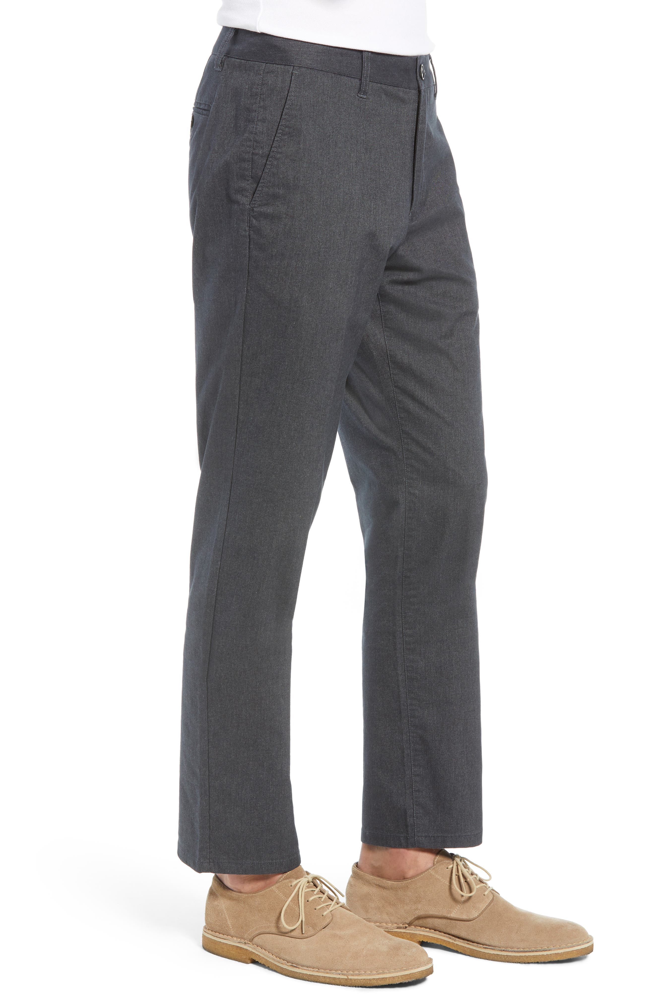 Tailored Fit Stretch Yarn-Dye Washed Chinos,                             Alternate thumbnail 3, color,                             020