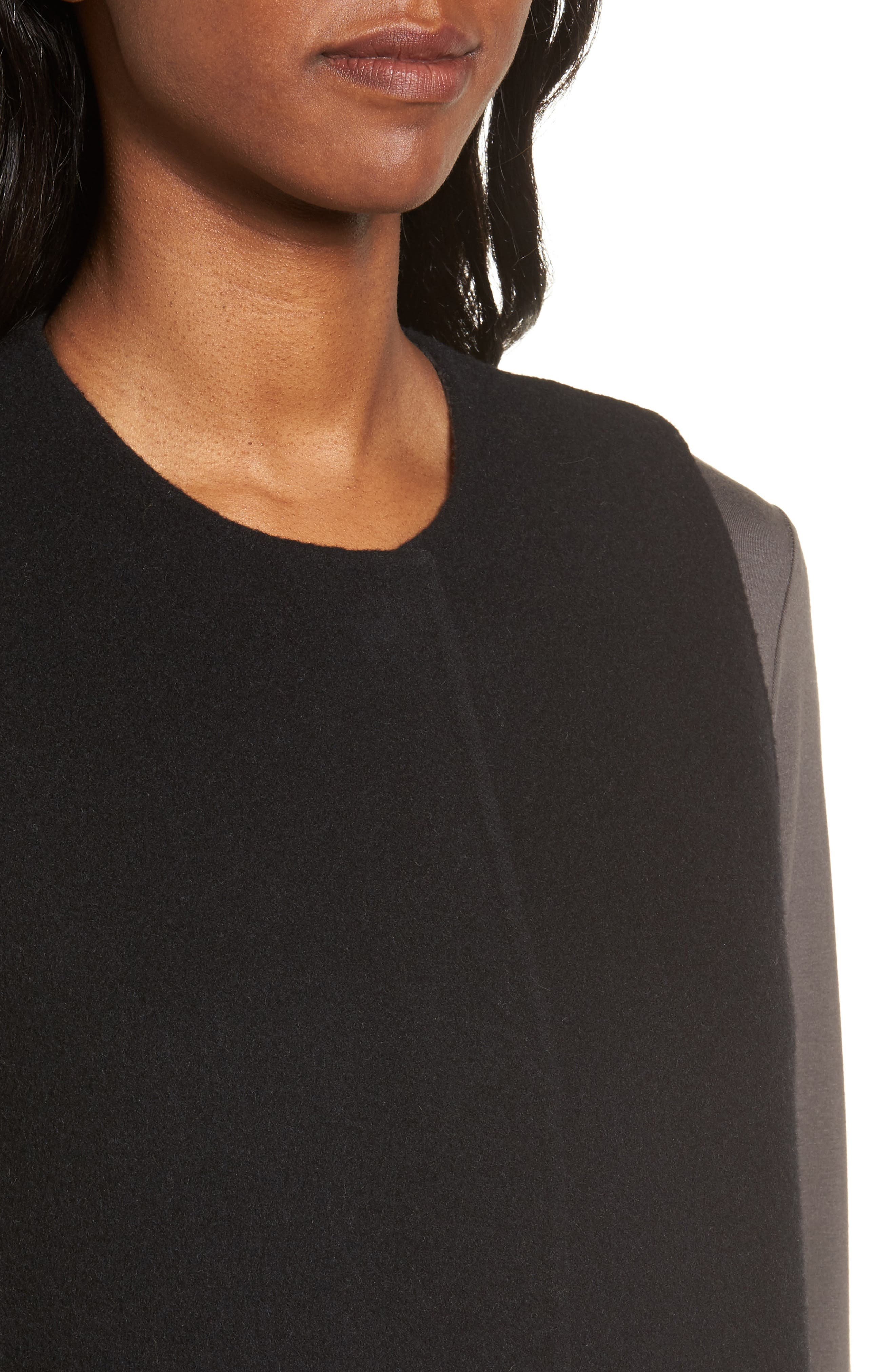 Long Wool Blend Vest,                             Alternate thumbnail 4, color,                             010