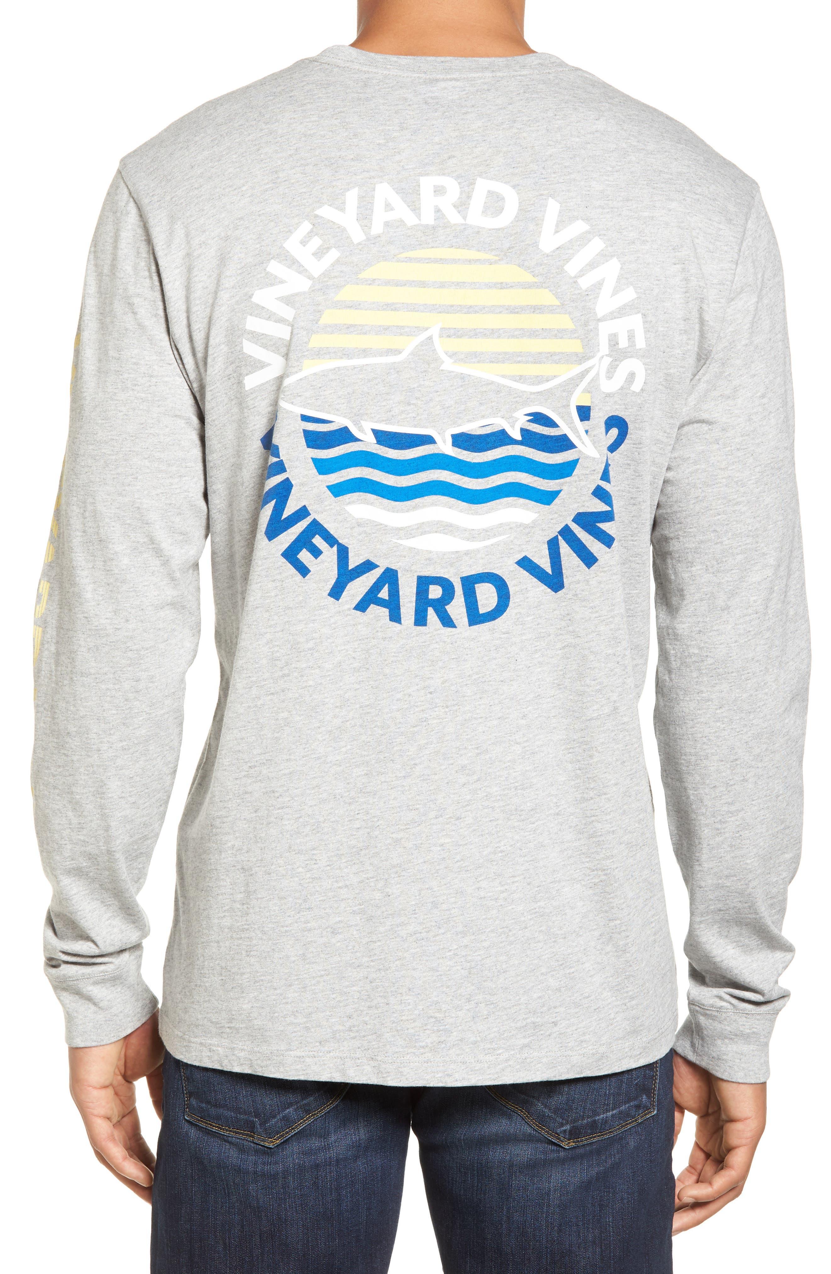 Fish Sunset Dot Pocket T-Shirt,                             Alternate thumbnail 2, color,                             039
