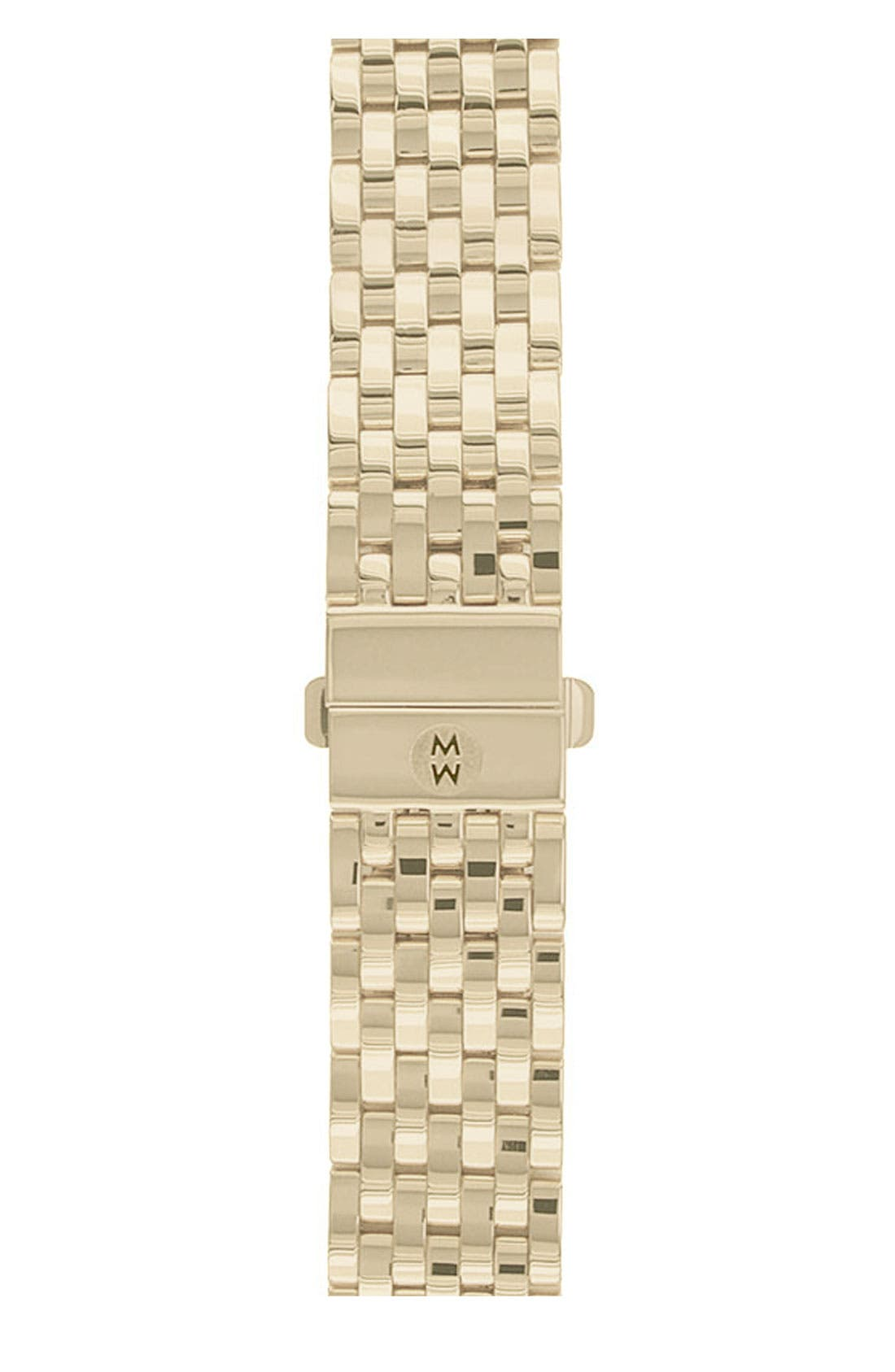 Deco 18mm Gold Plated Bracelet Watchband,                             Main thumbnail 1, color,                             GOLD
