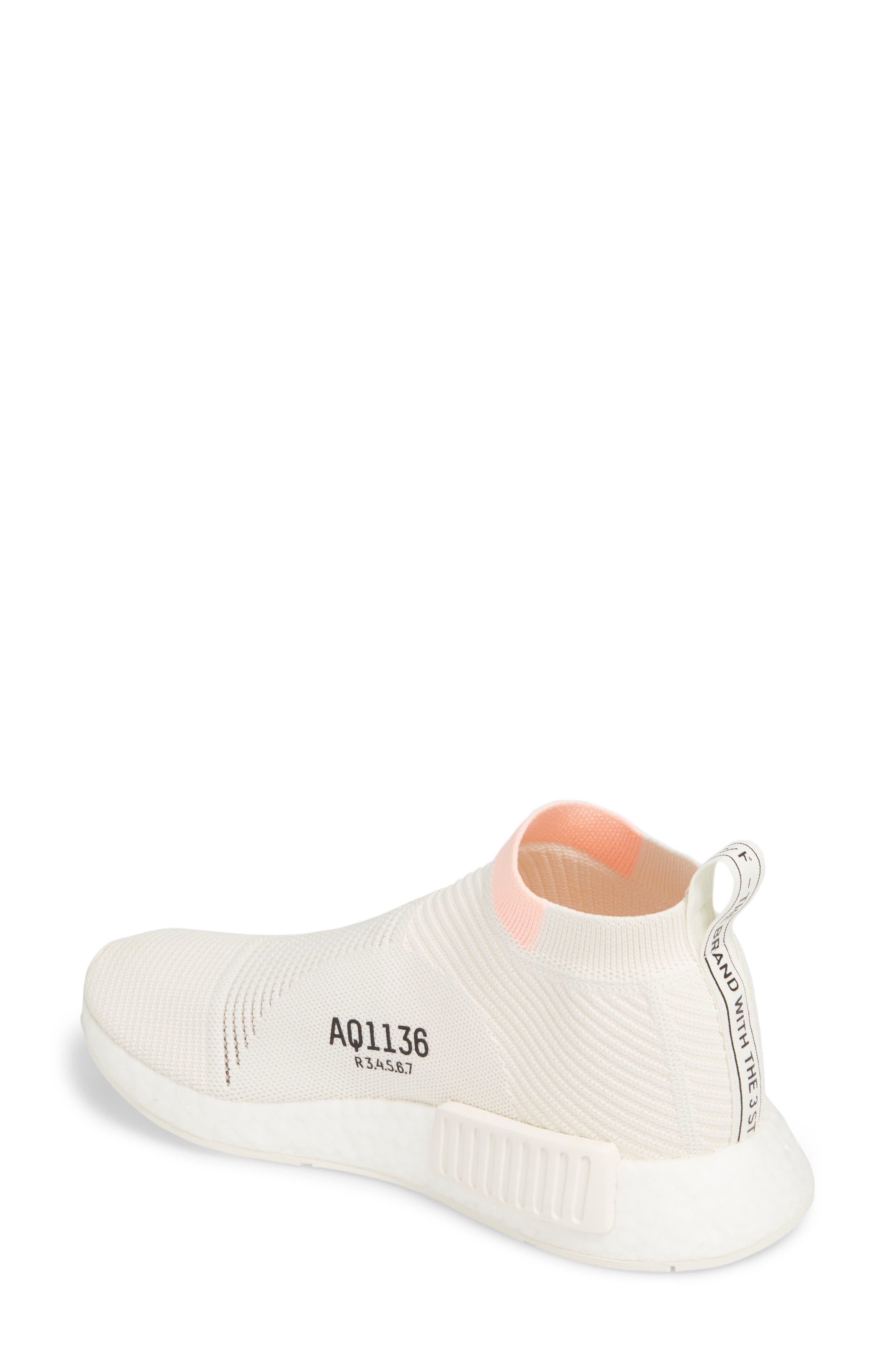 NMD_CS1 Primeknit Sneaker,                             Alternate thumbnail 2, color,                             CLOUD WHITE/ CLEAR ORANGE