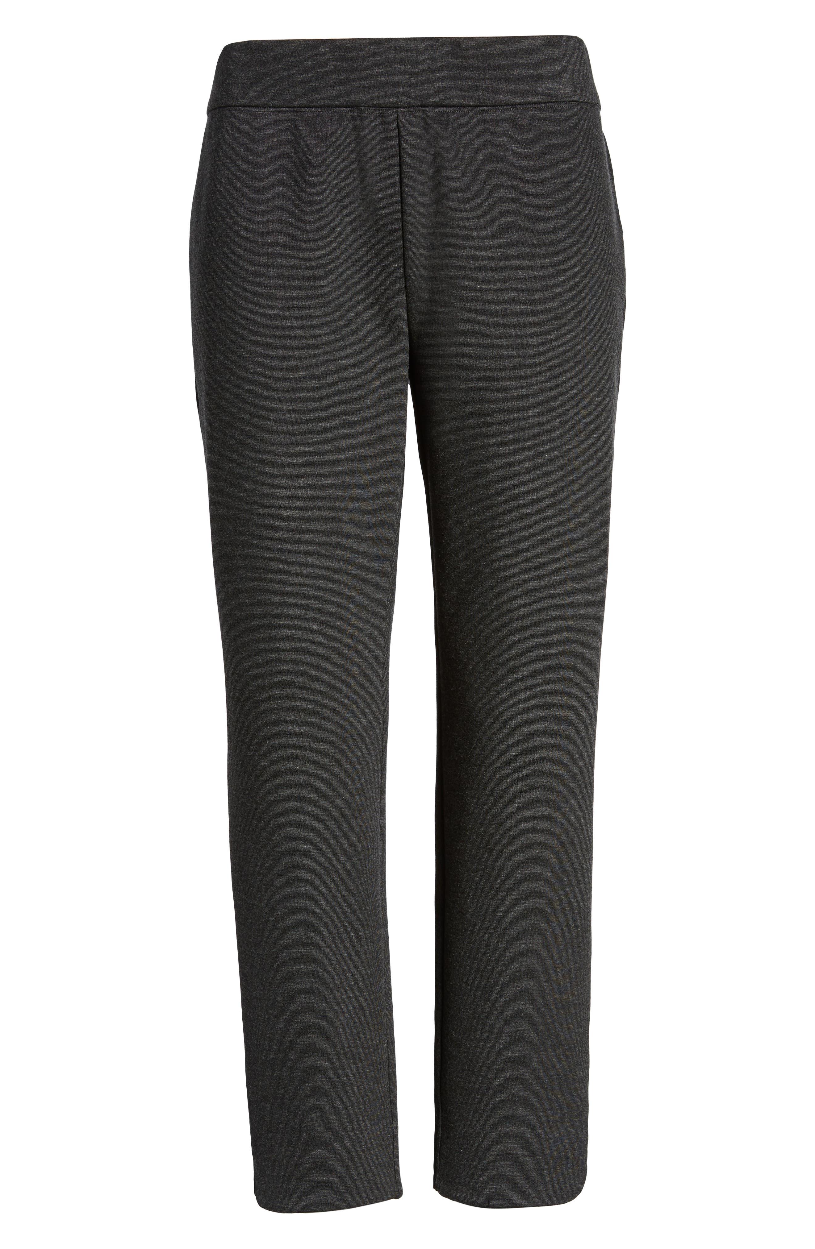 Slim Crop Pants,                             Alternate thumbnail 6, color,                             CHARCOAL