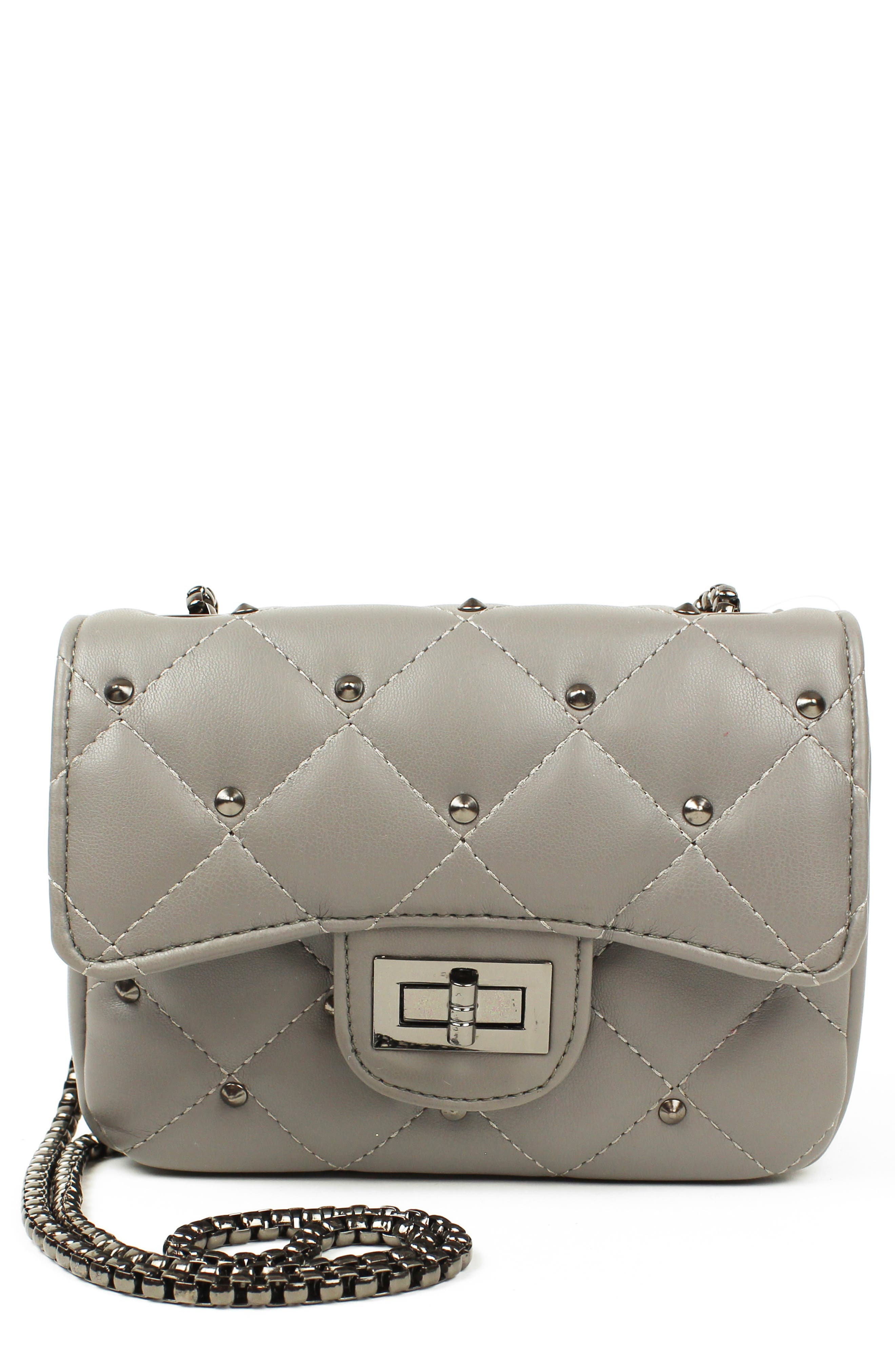 Quilted Crossbody Bag,                         Main,                         color, GREY