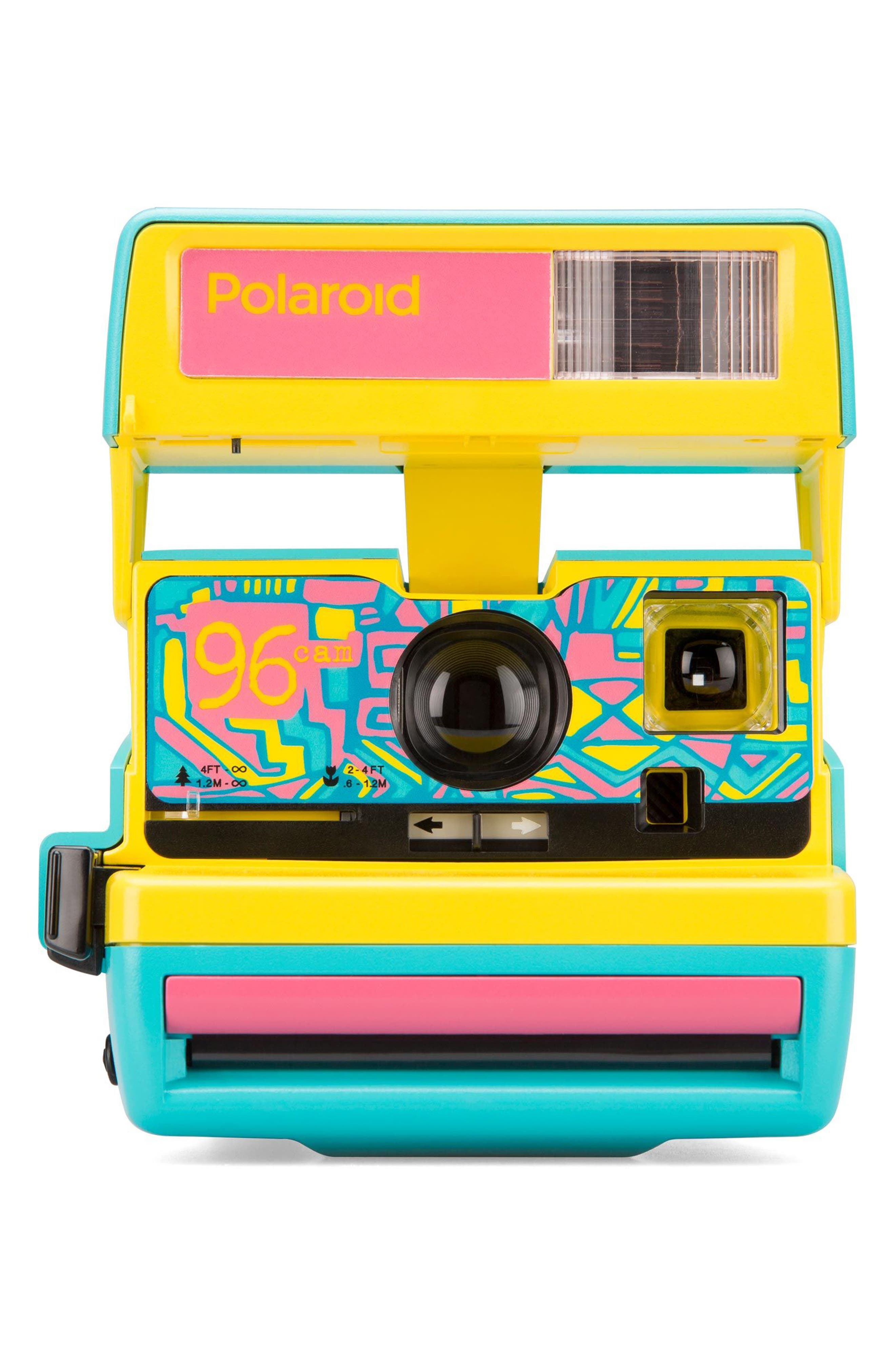 Impossible Project Polaroid 600 96 Cam Instant Camera,                         Main,                         color, BLUE